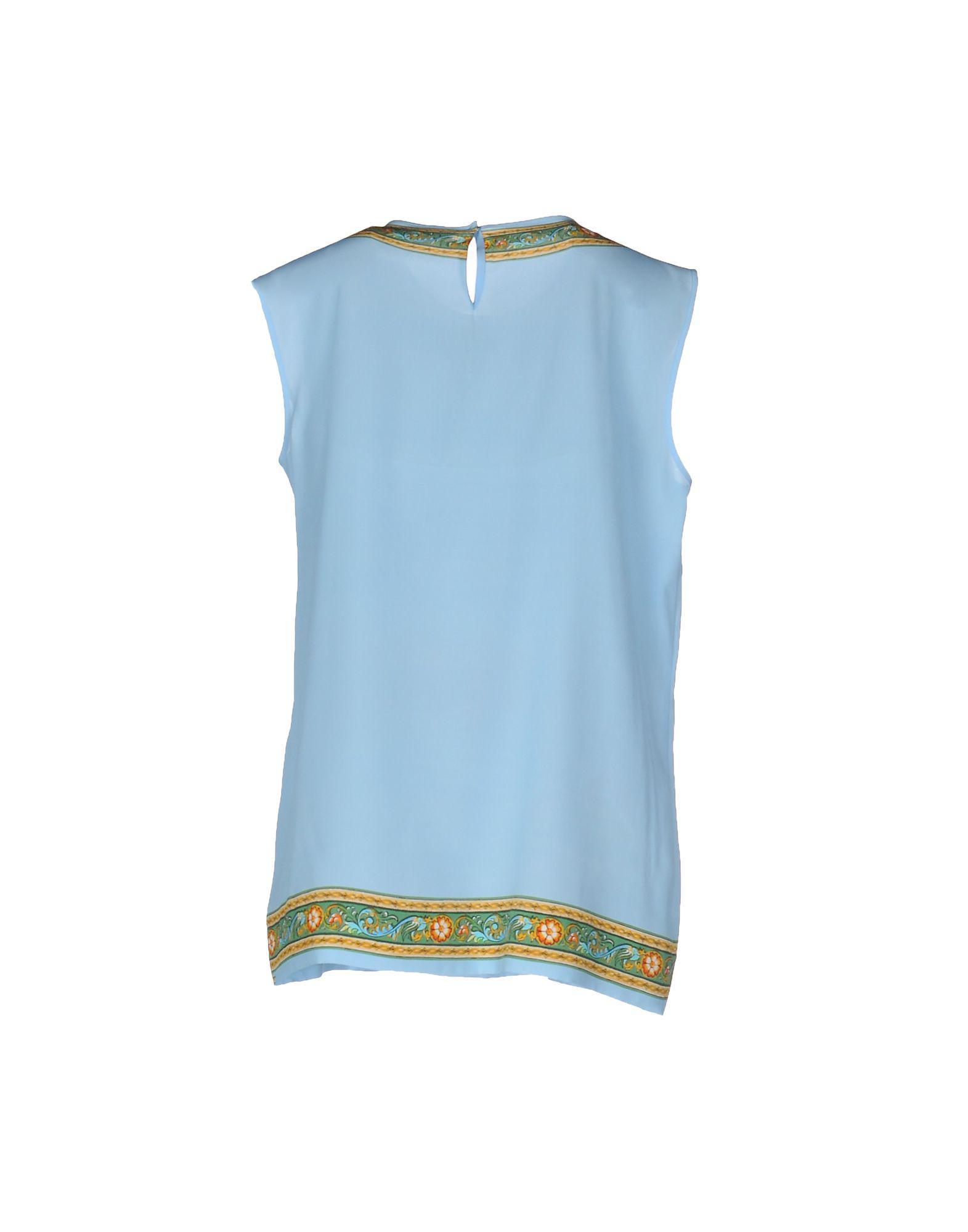 Dolce & Gabbana Silk Top in Sky Blue (Blue)