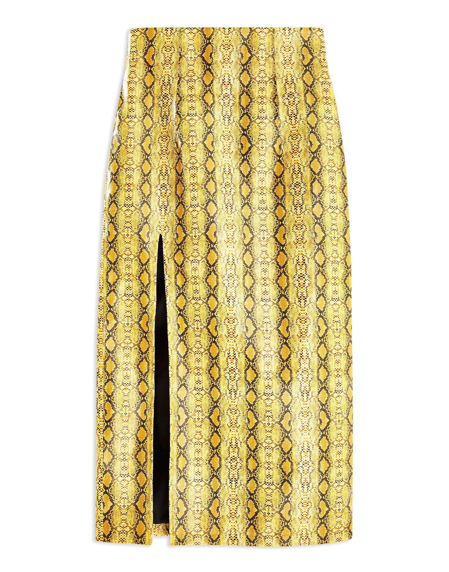 9012d1fe5 Falda a media pierna de mujer de color amarillo