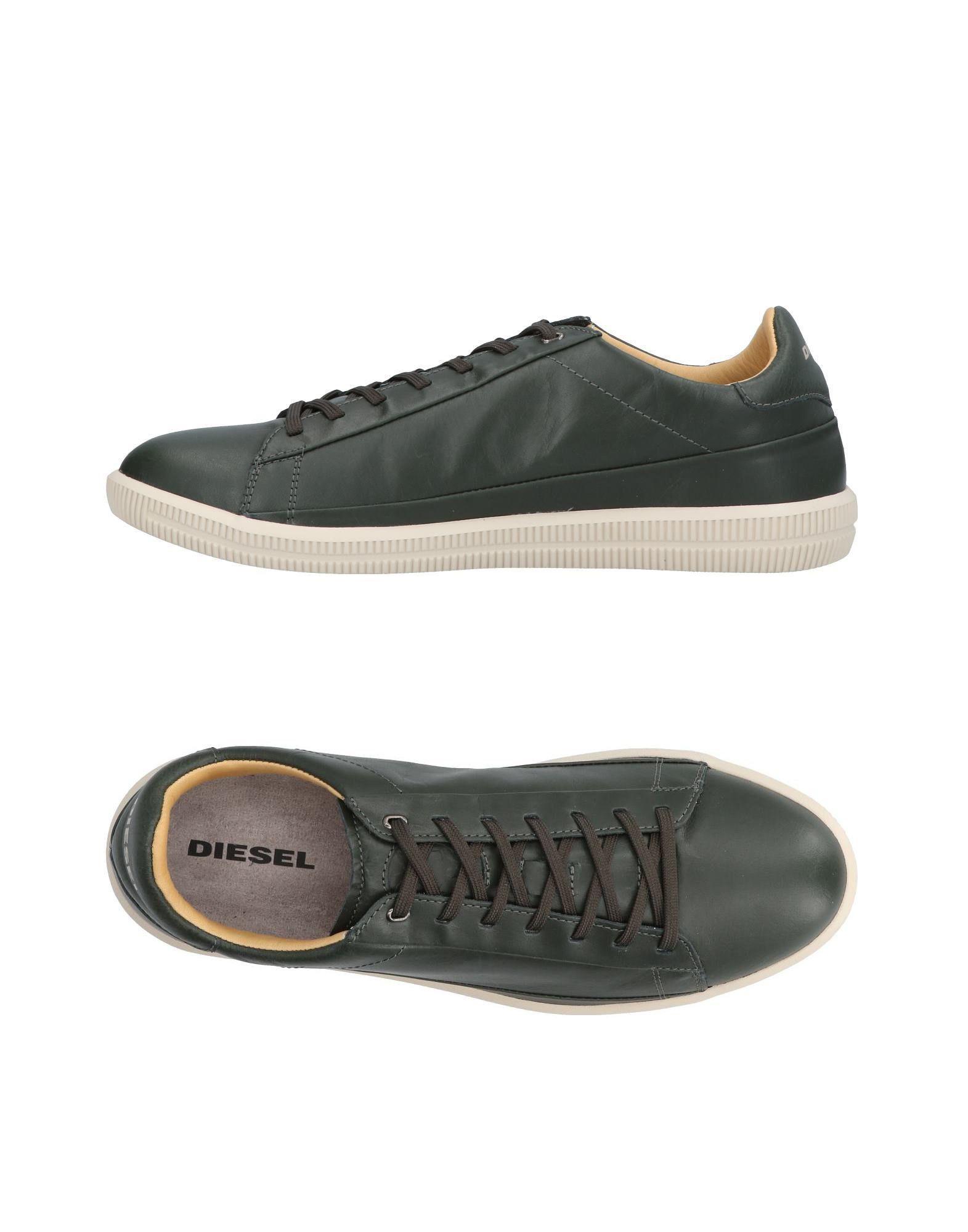 logo low-top sneakers - Green Diesel C6SQoOOmj