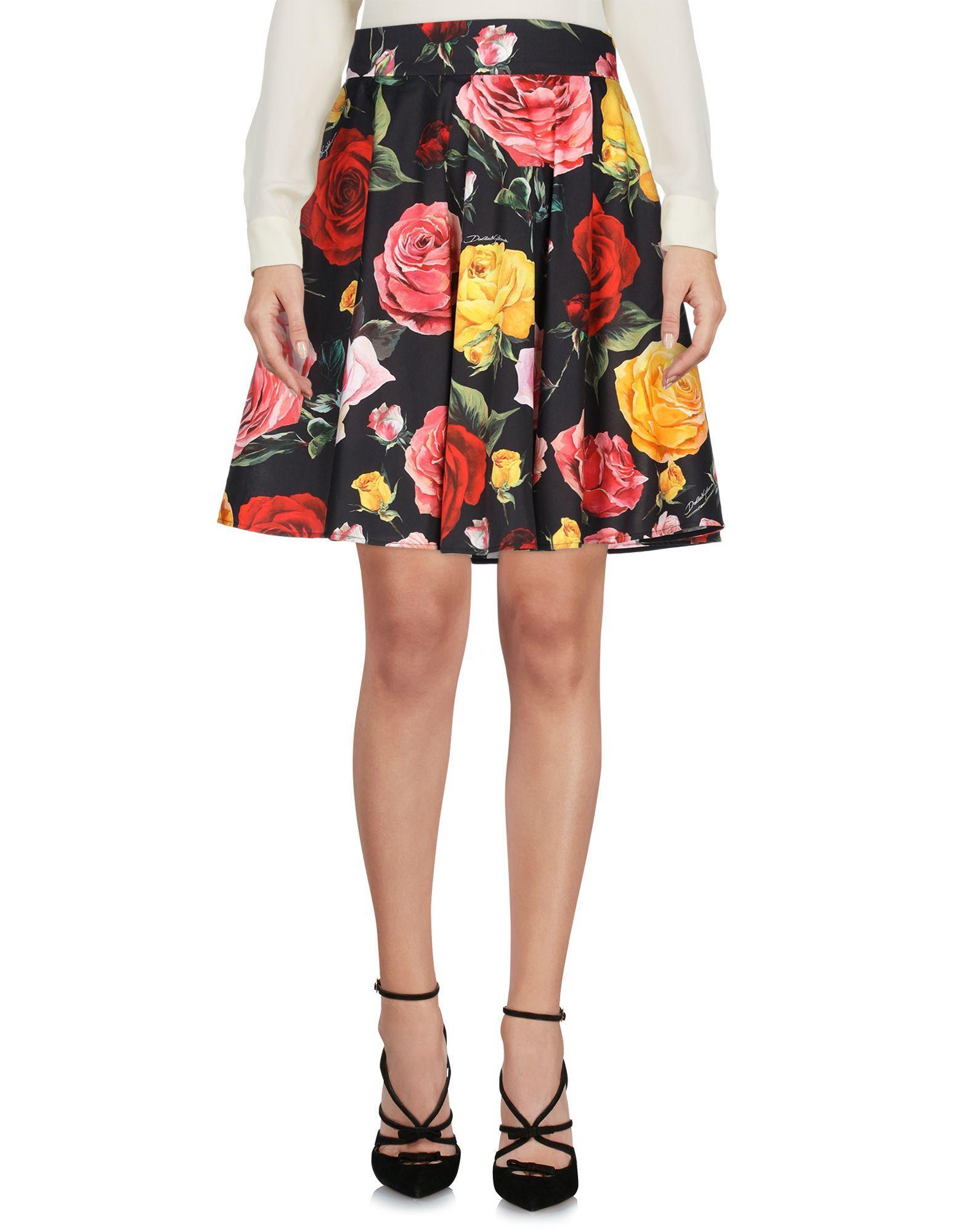 Falda corta Dolce & Gabbana de Algodón de color Negro