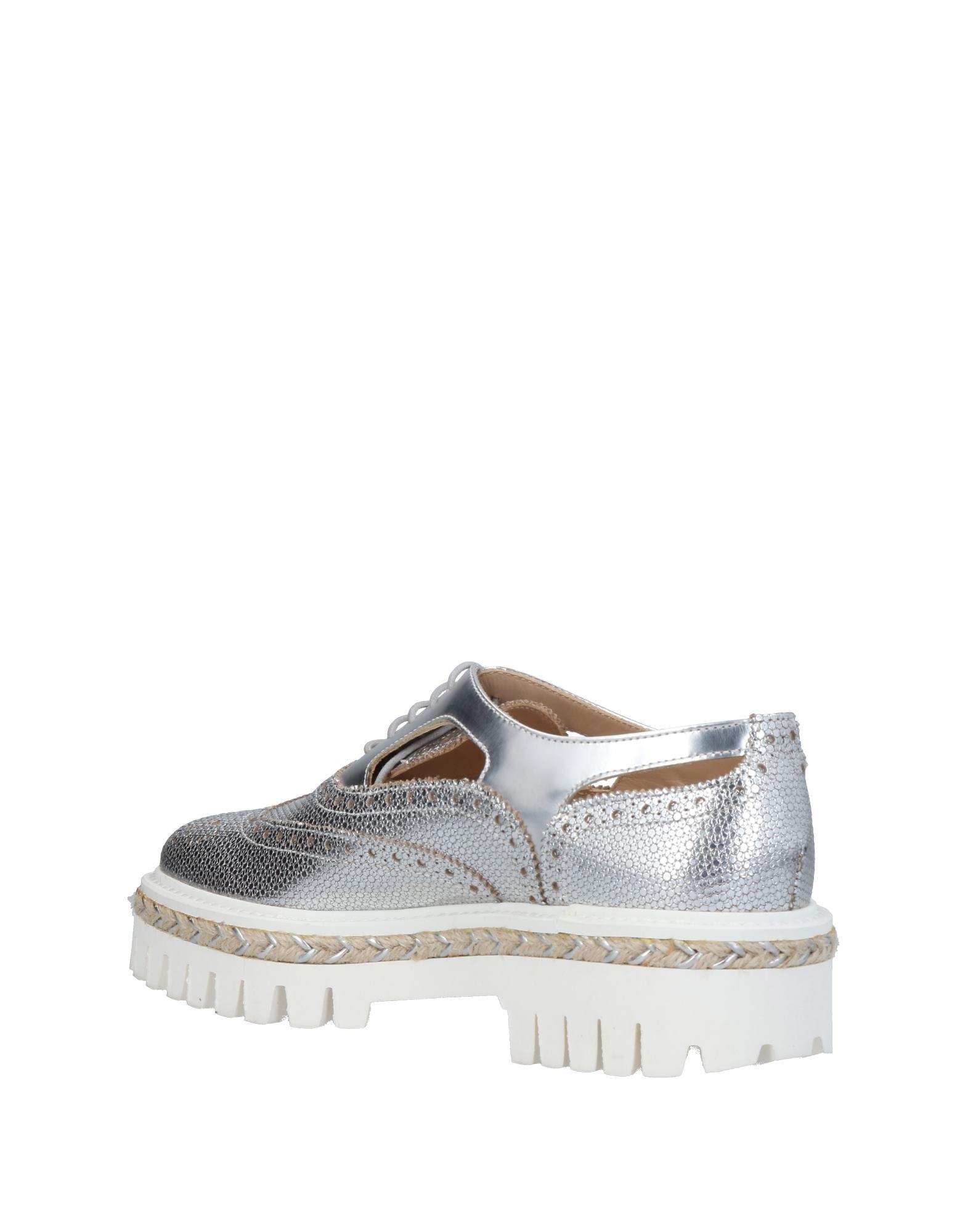 Zapatos de cordones Alberto Guardiani de Cuero de color Metálico