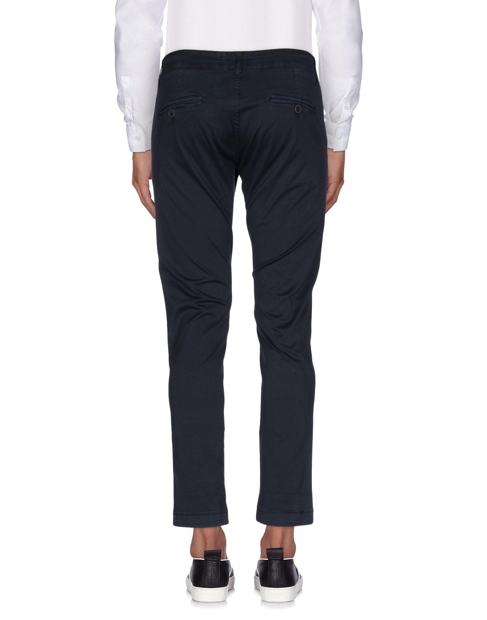 Exibit Cotton Casual Pants in Dark Blue (Blue) for Men