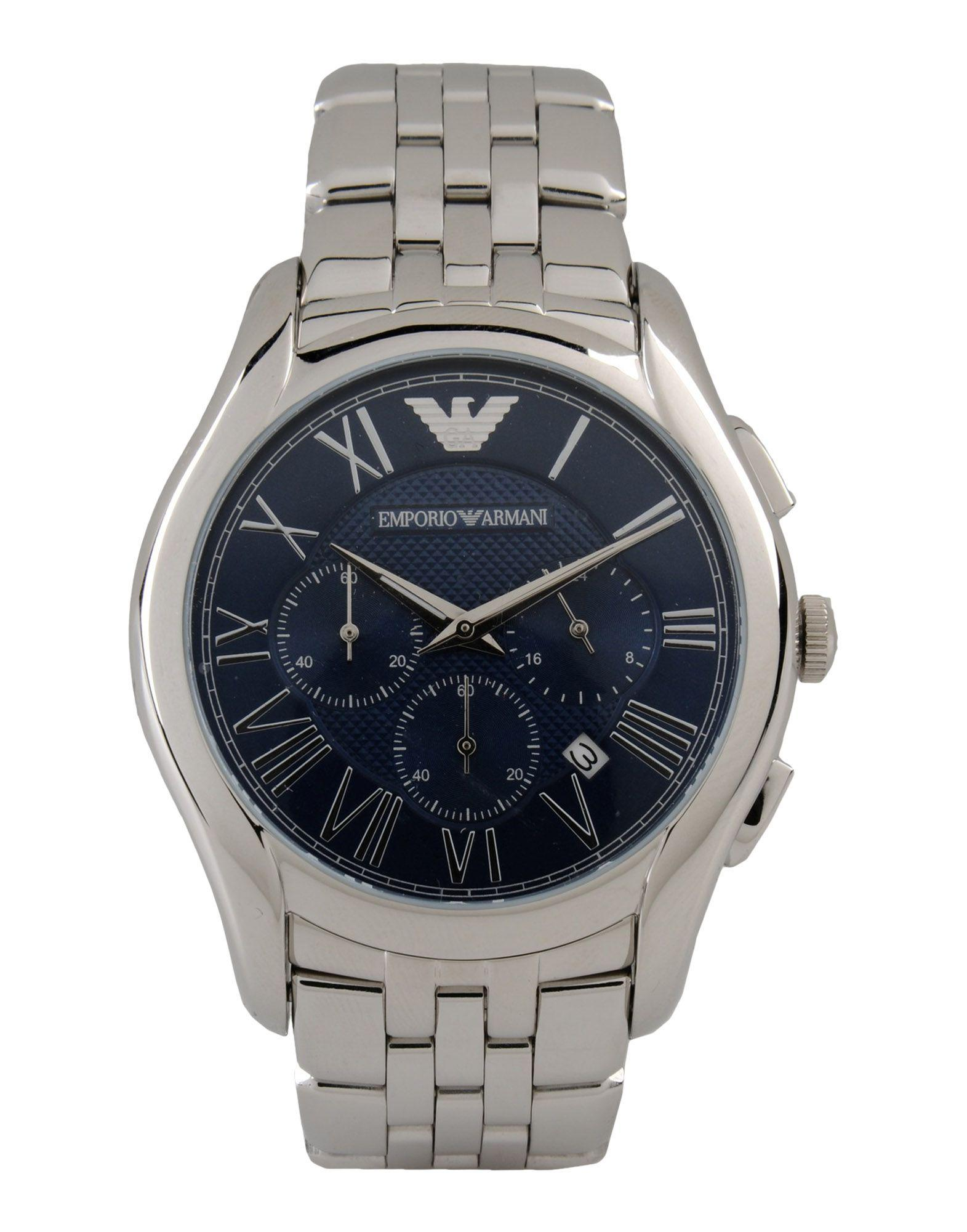Lyst Emporio Armani Wrist Watch In Blue