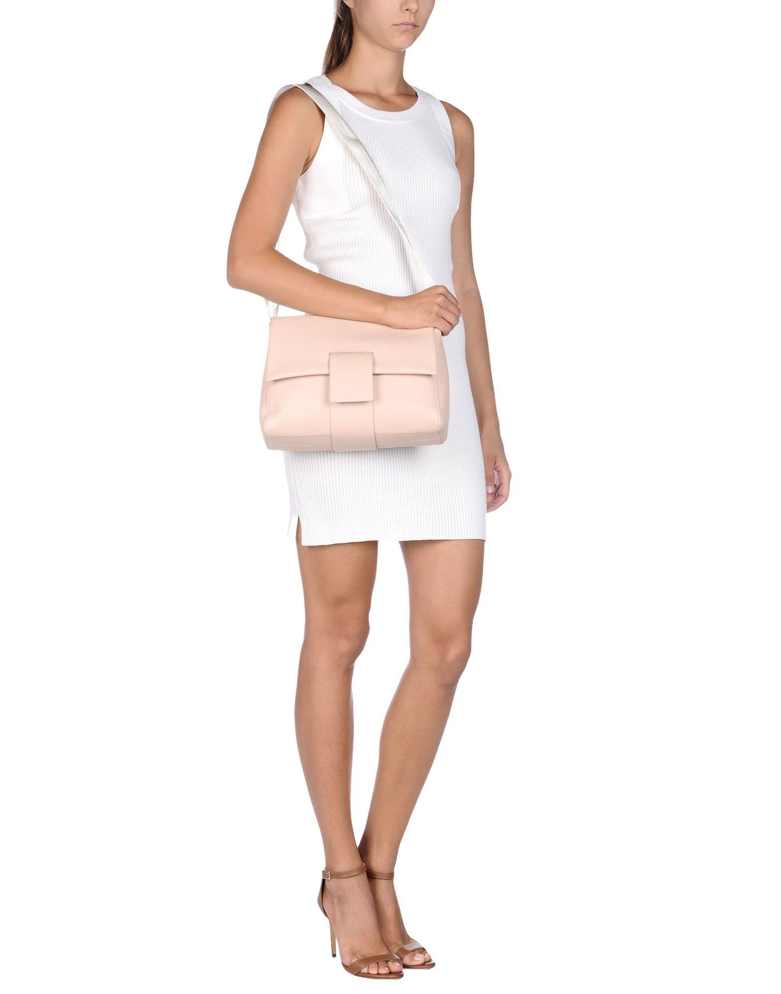 MM6 by Maison Martin Margiela Leather Cross-body Bag in Beige (Natural)