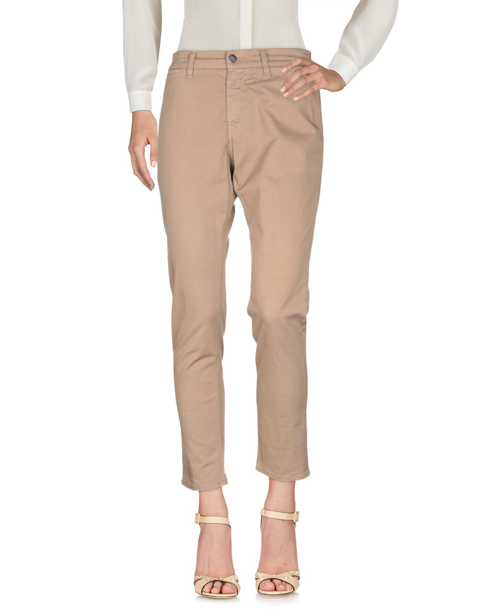 Pantalones 2W2M de Algodón de color Marrón