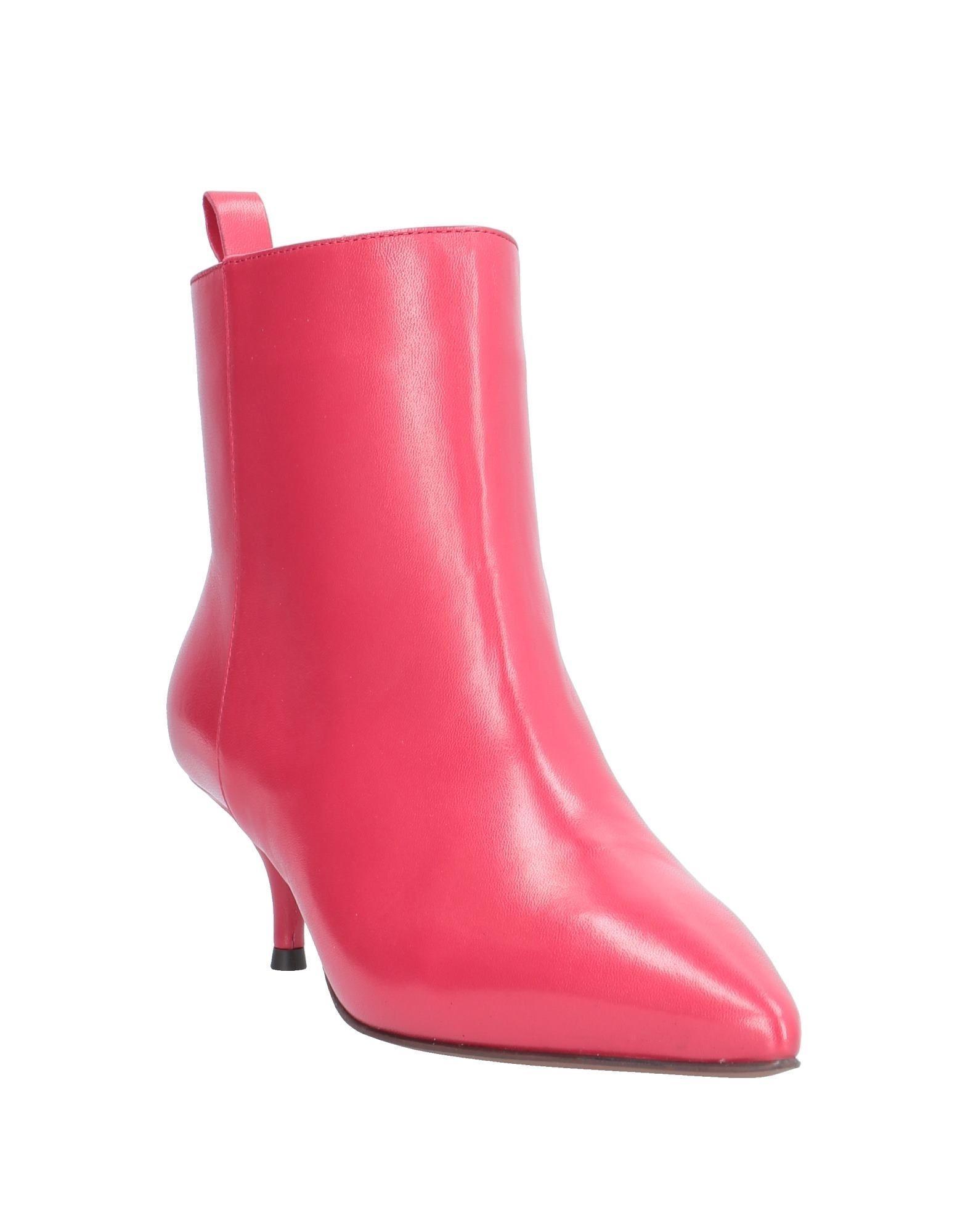 Botines de caña alta L'Autre Chose de Cuero de color Rojo