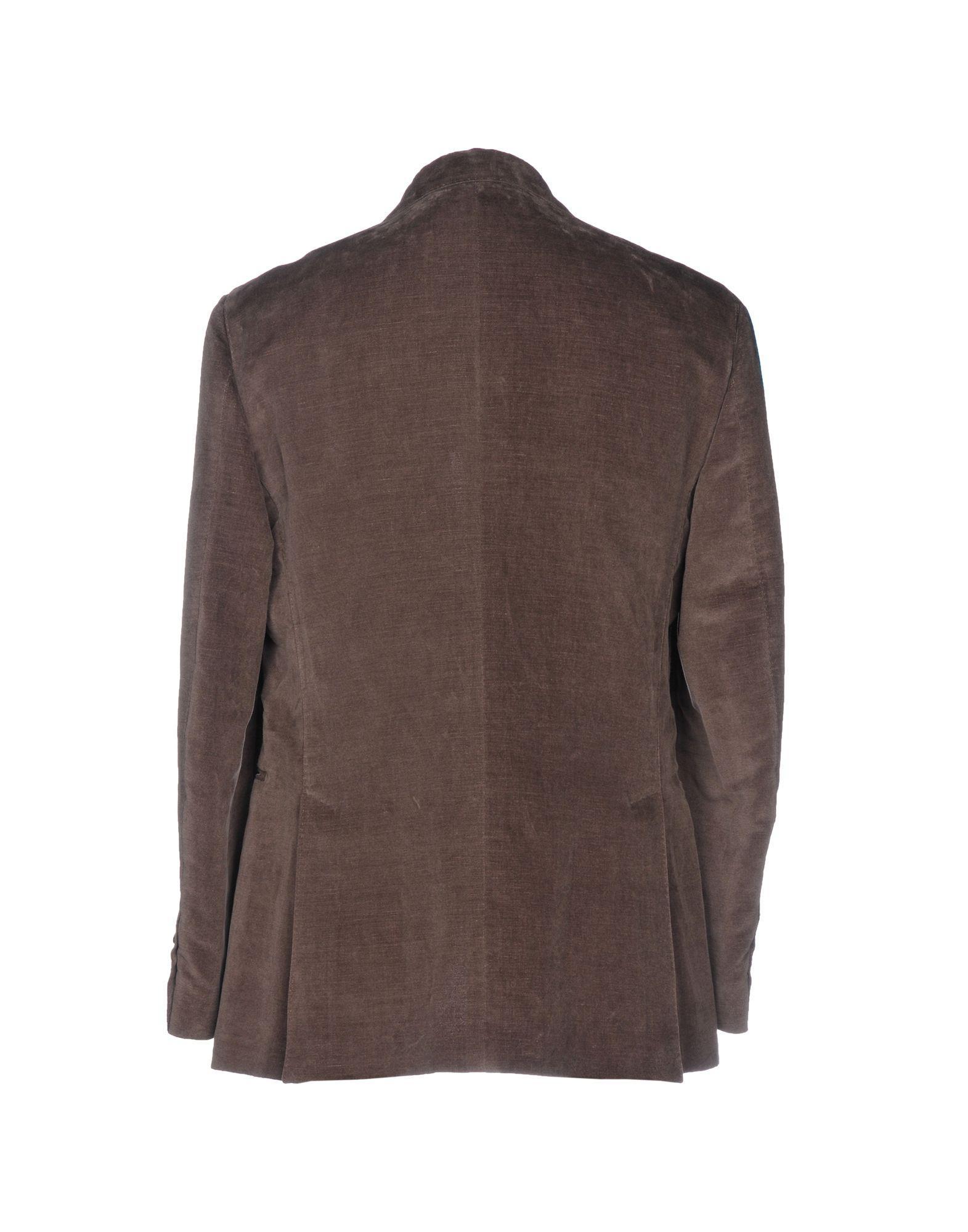 Lardini Velvet Blazer in Dark Brown (Brown) for Men