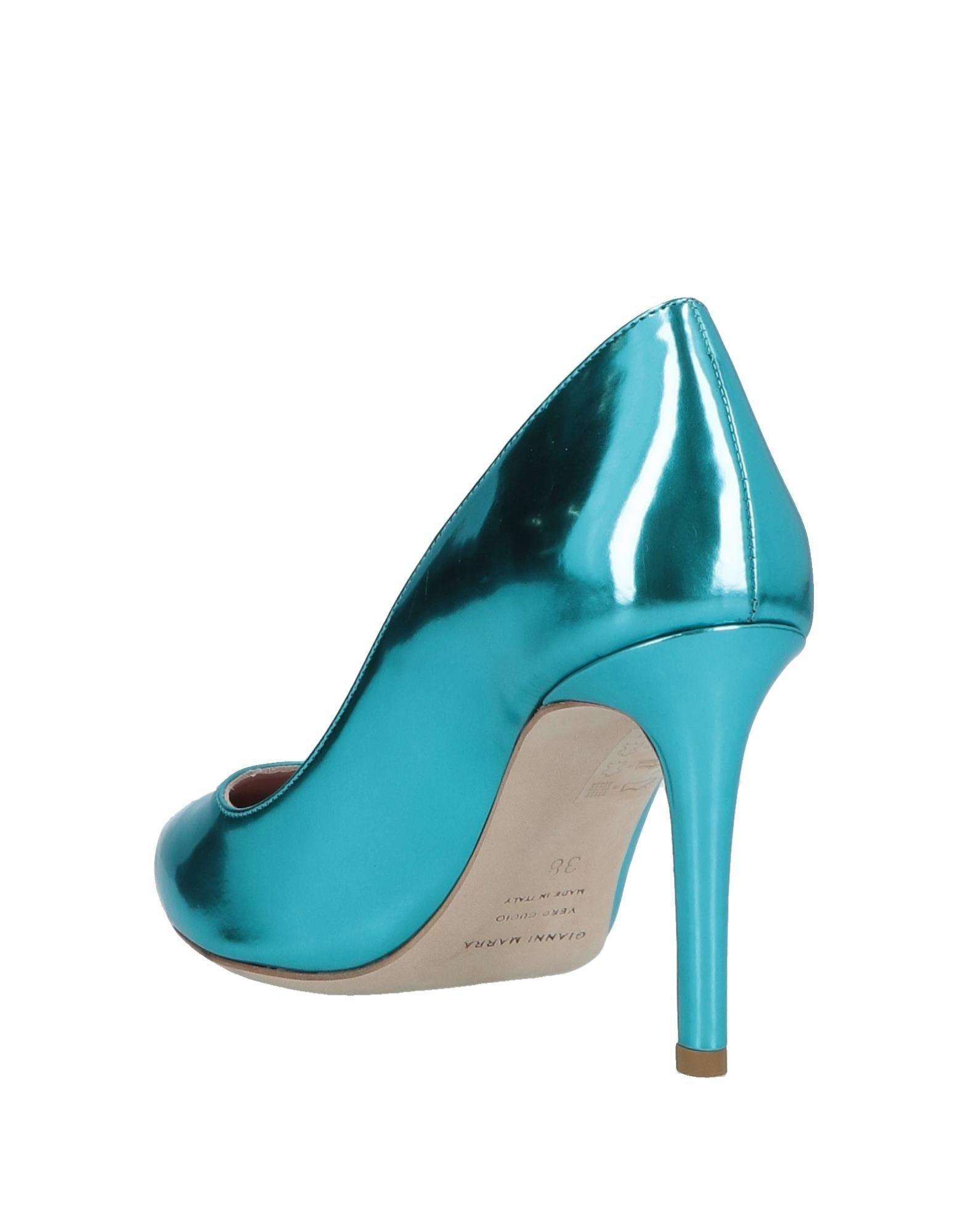 Zapatos de salón Gianni Marra de Cuero de color Azul