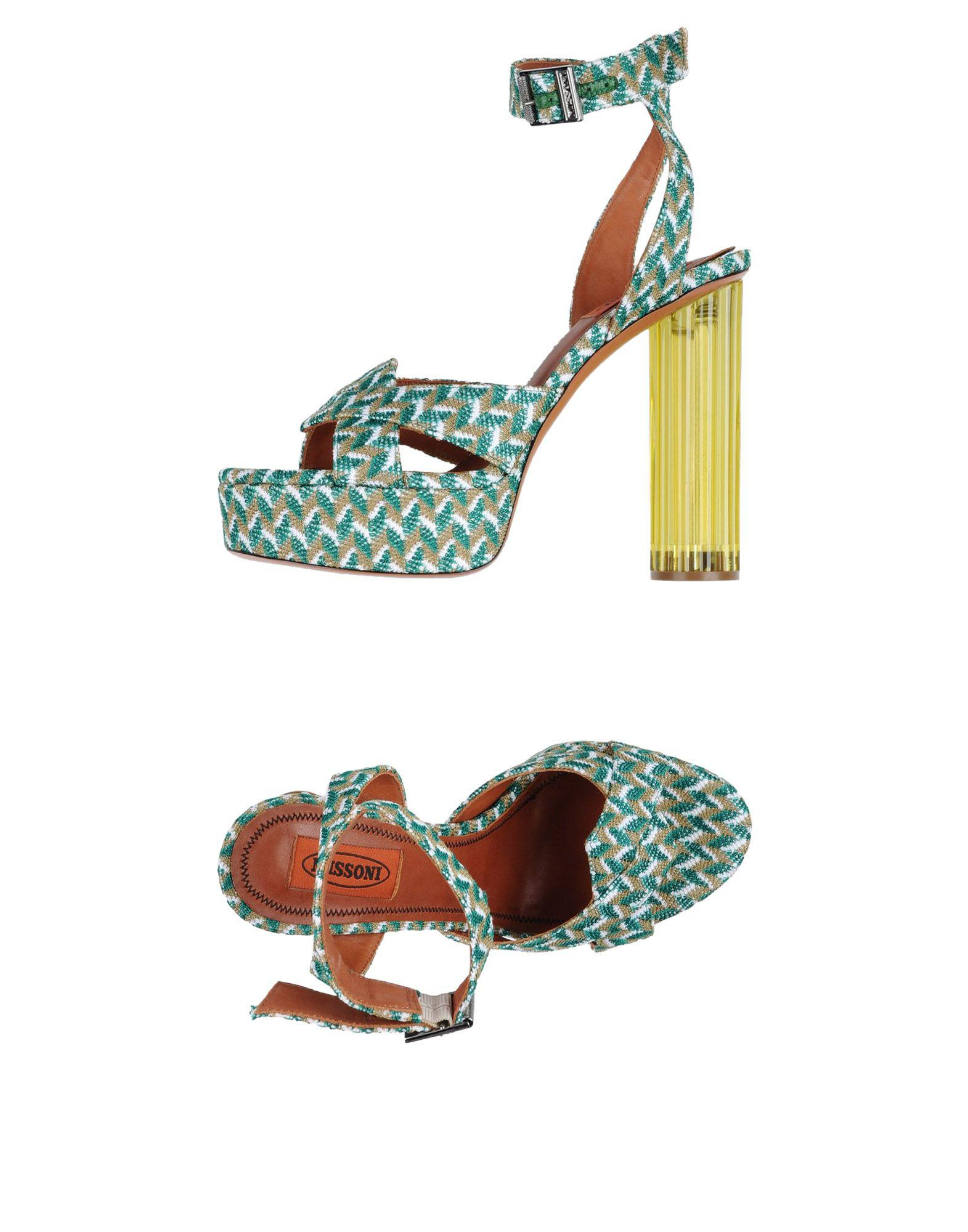 Missoni Synthetic Sandals in Green - Lyst