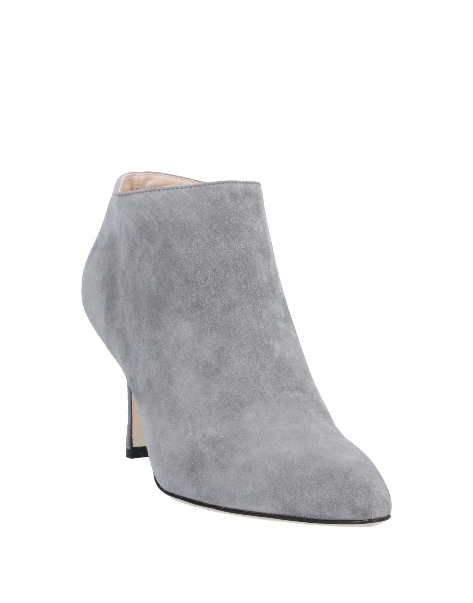 Sergio Rossi Leather Shoe Boots in Lead (Grey)