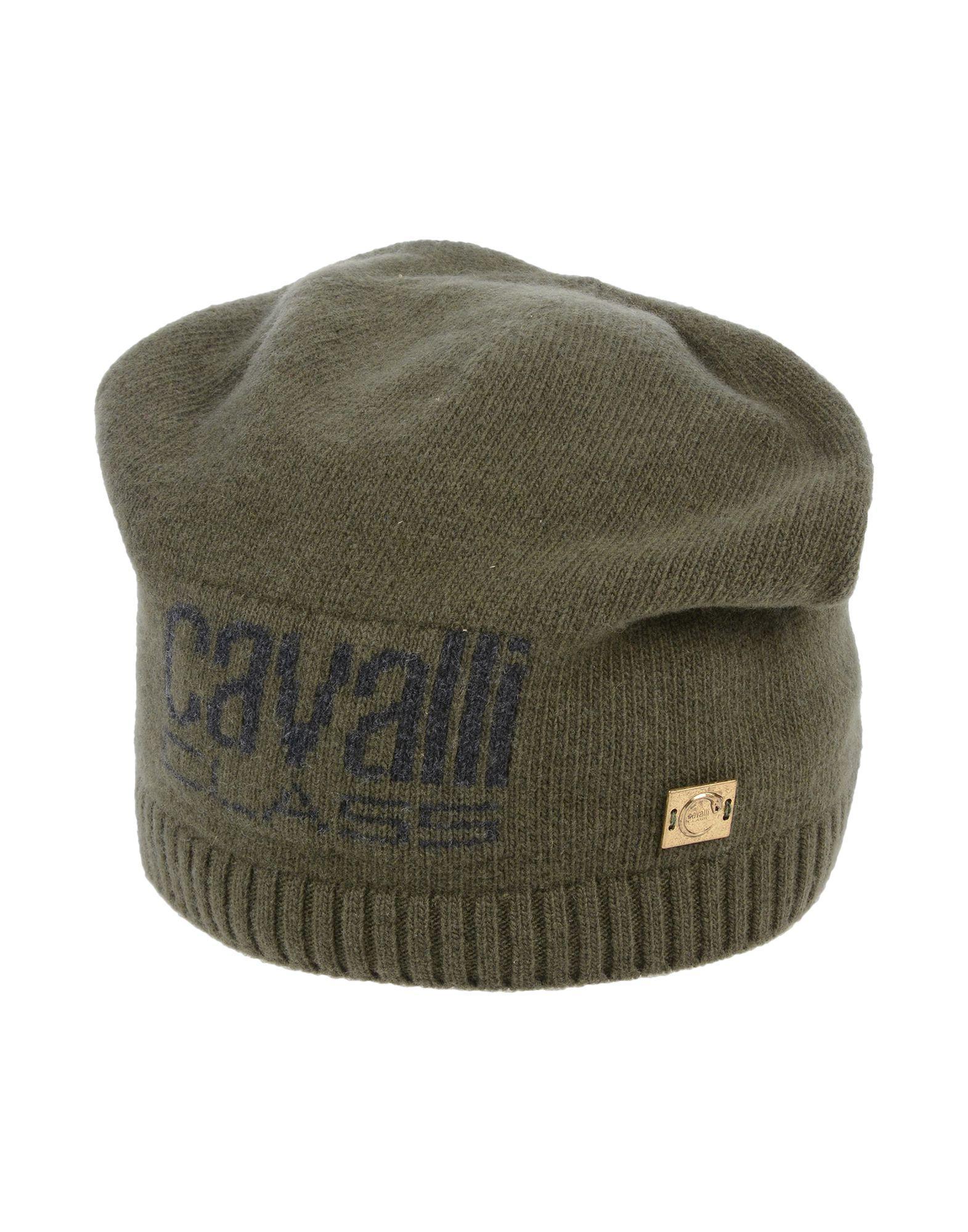 Class Roberto Cavalli Hat in Green for Men - Lyst b53e572784a