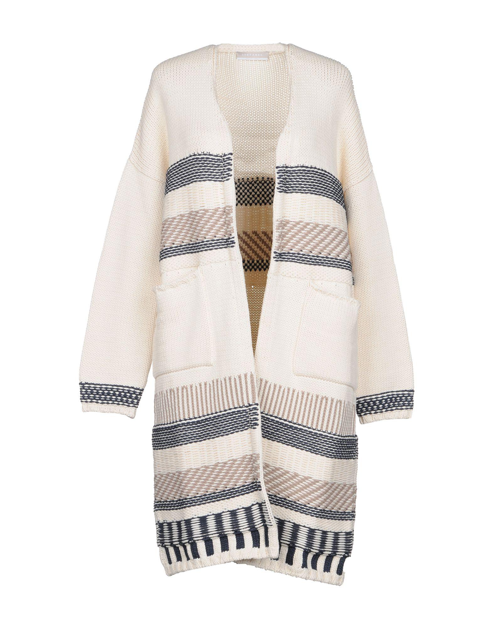 5f593a2245932 Stefanel Cardigan in White - Lyst