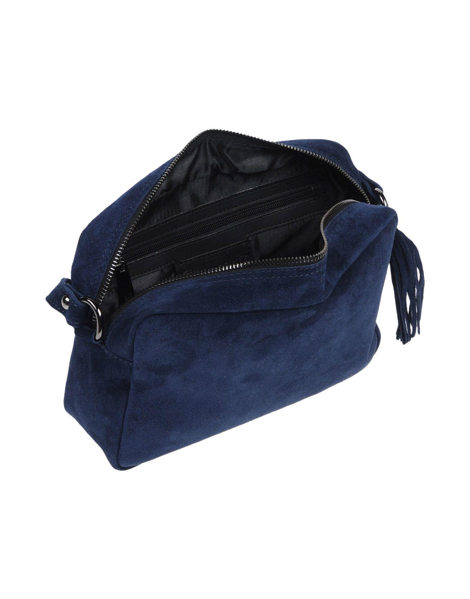 Borsetteria Napoli 1985 Leather Cross-body Bag in Dark Blue (Blue)
