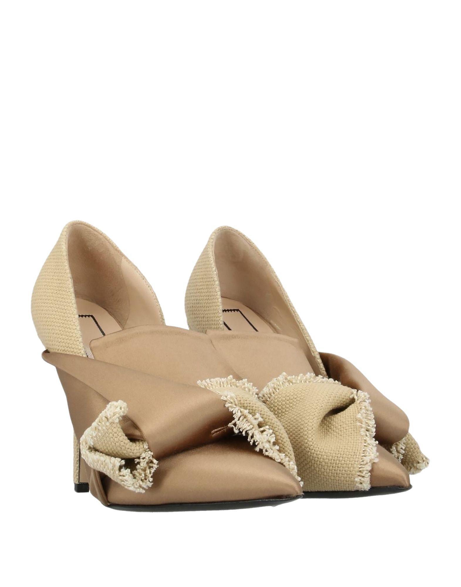 Zapatos de salón N°21 de Lona de color Neutro