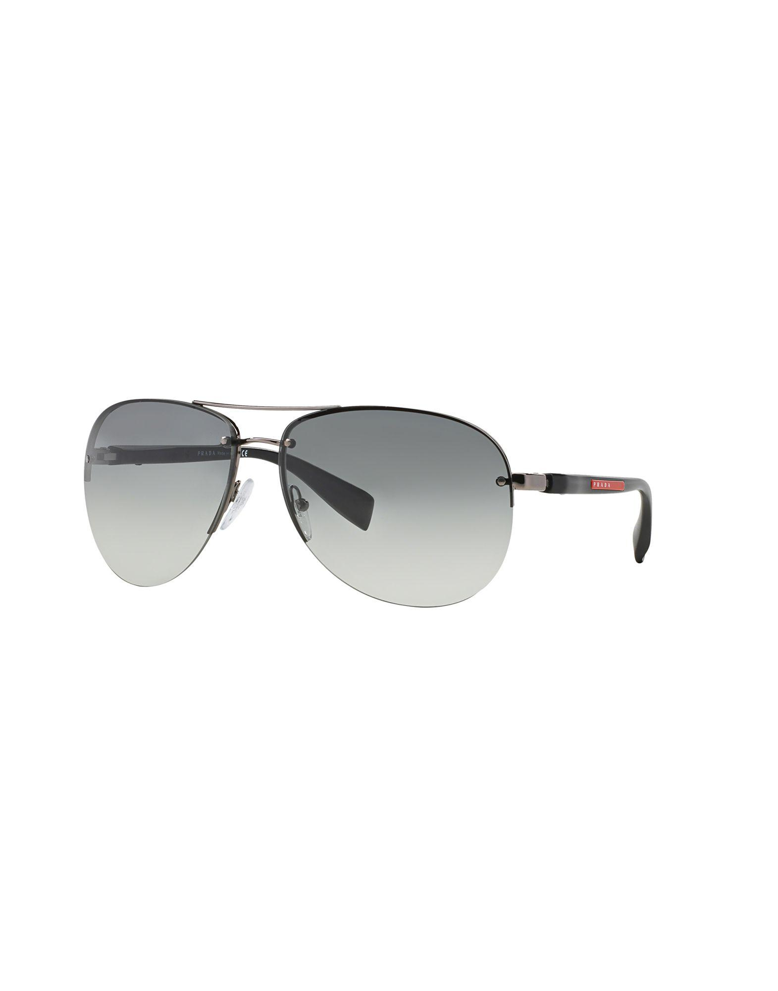 b8d8b09ce92 Prada - Gray Sunglasses for Men - Lyst. View fullscreen