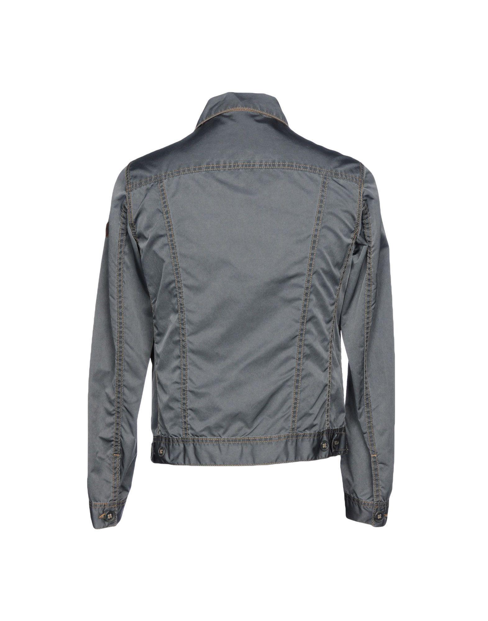 Braddock Leather Jacket in Grey (Grey) for Men
