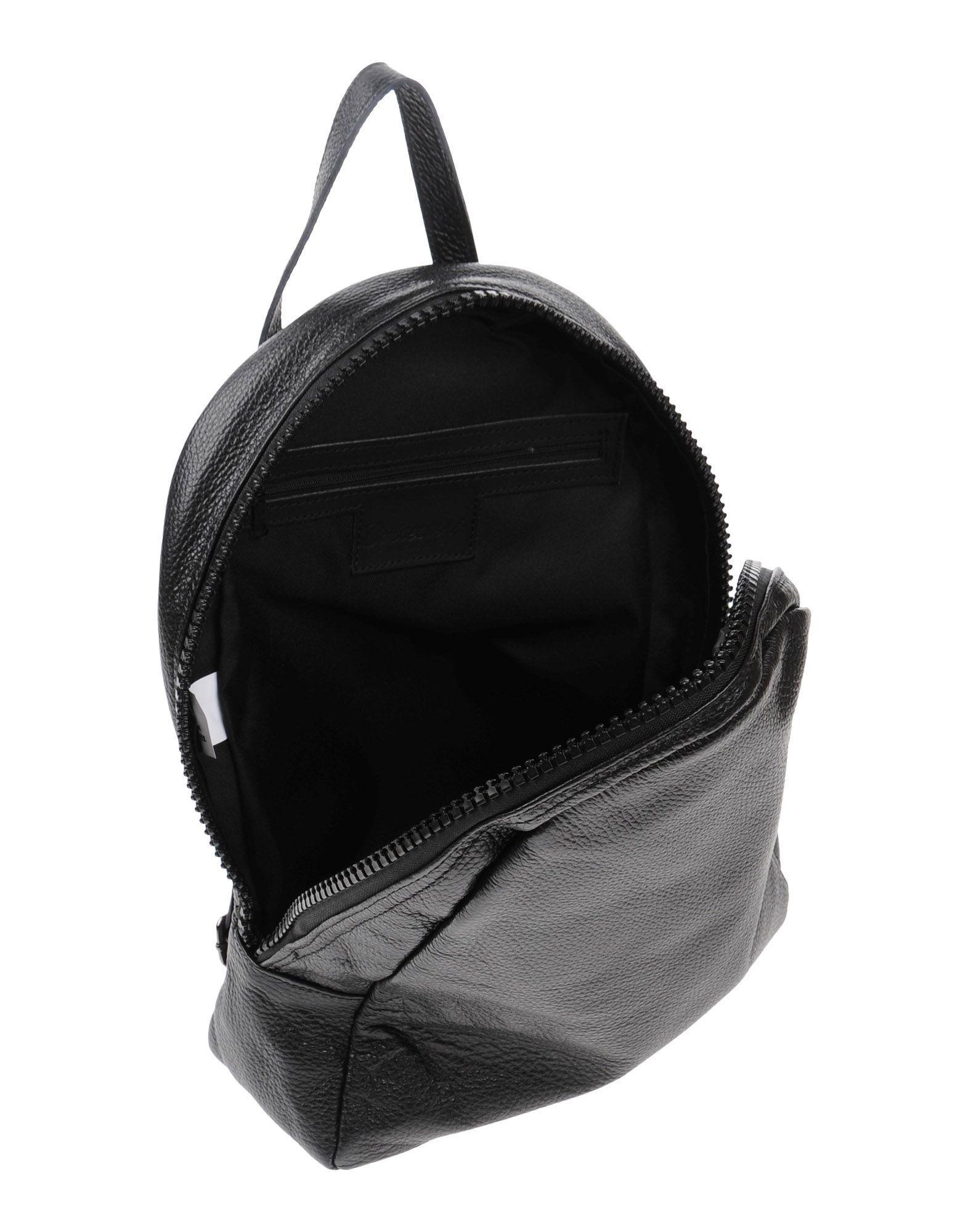 Borsetteria Napoli 1985 Leather Backpacks & Fanny Packs in Black