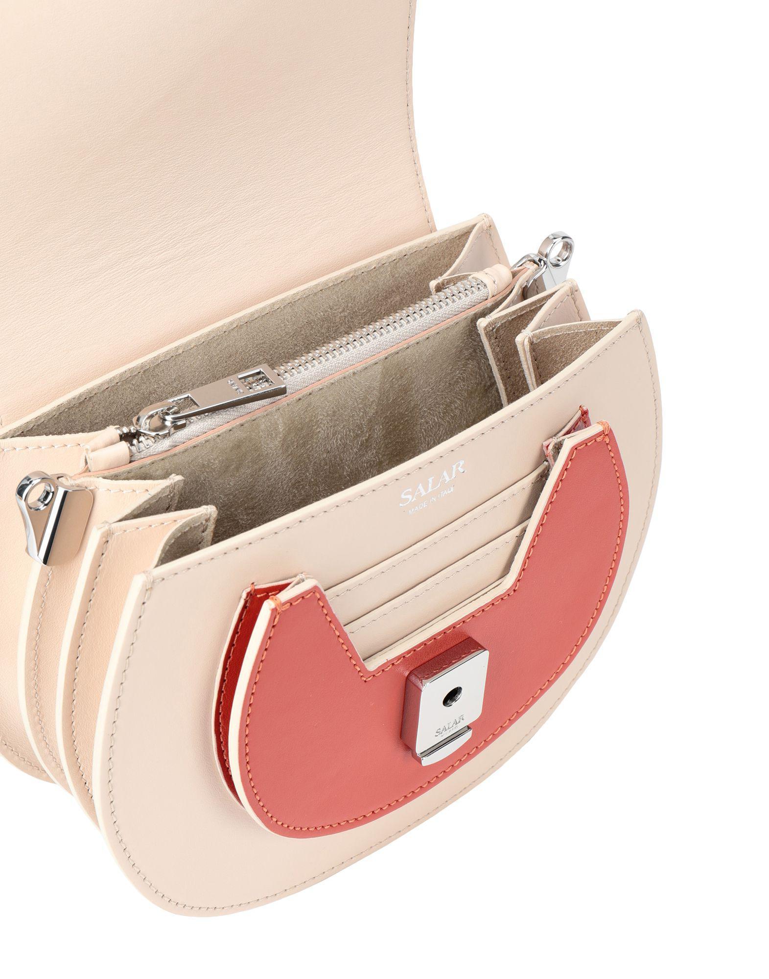 Salar Leather Cross-body Bag in Ivory (White)
