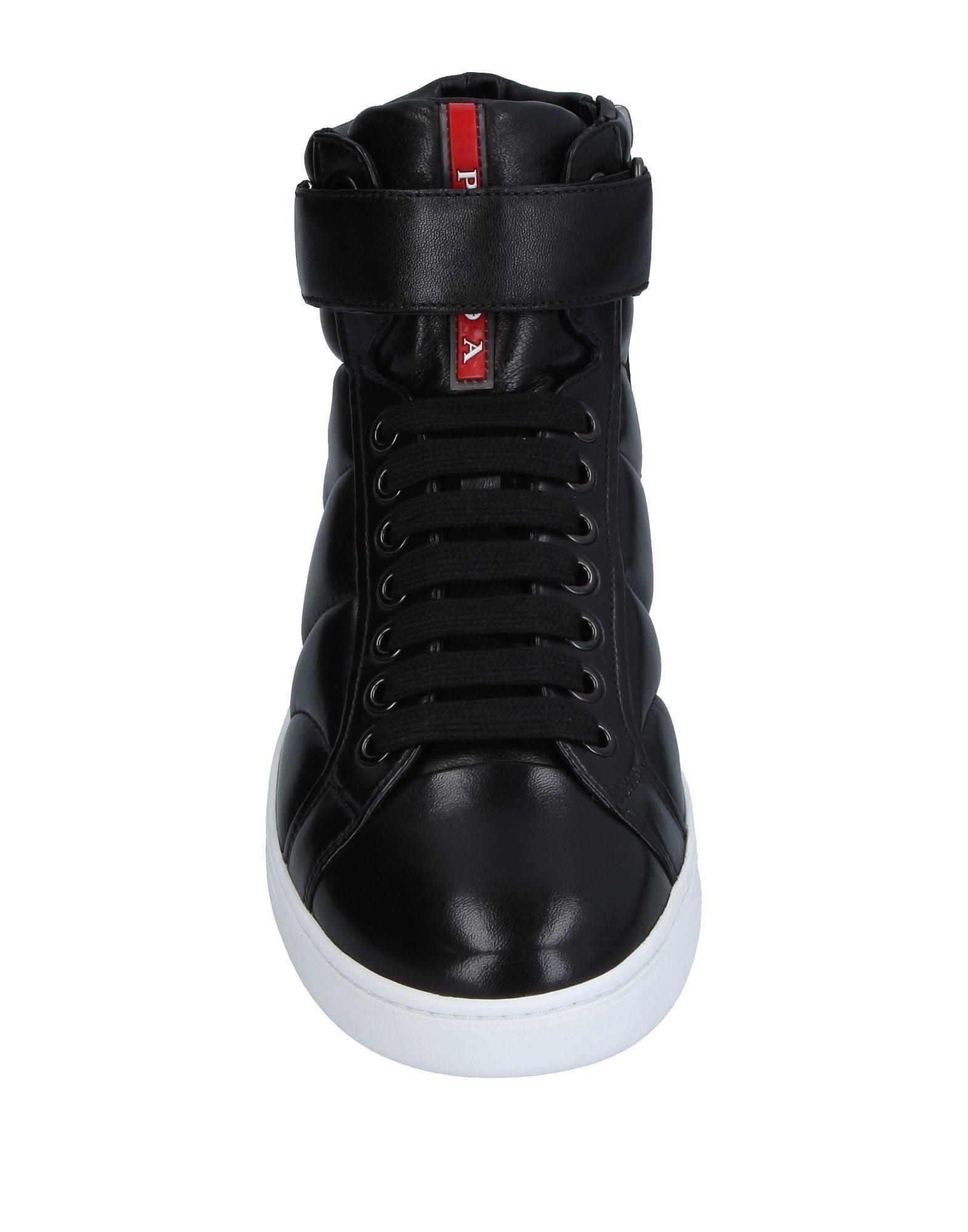 Prada Linea Rossa Leather High-tops & Sneakers in Black for Men