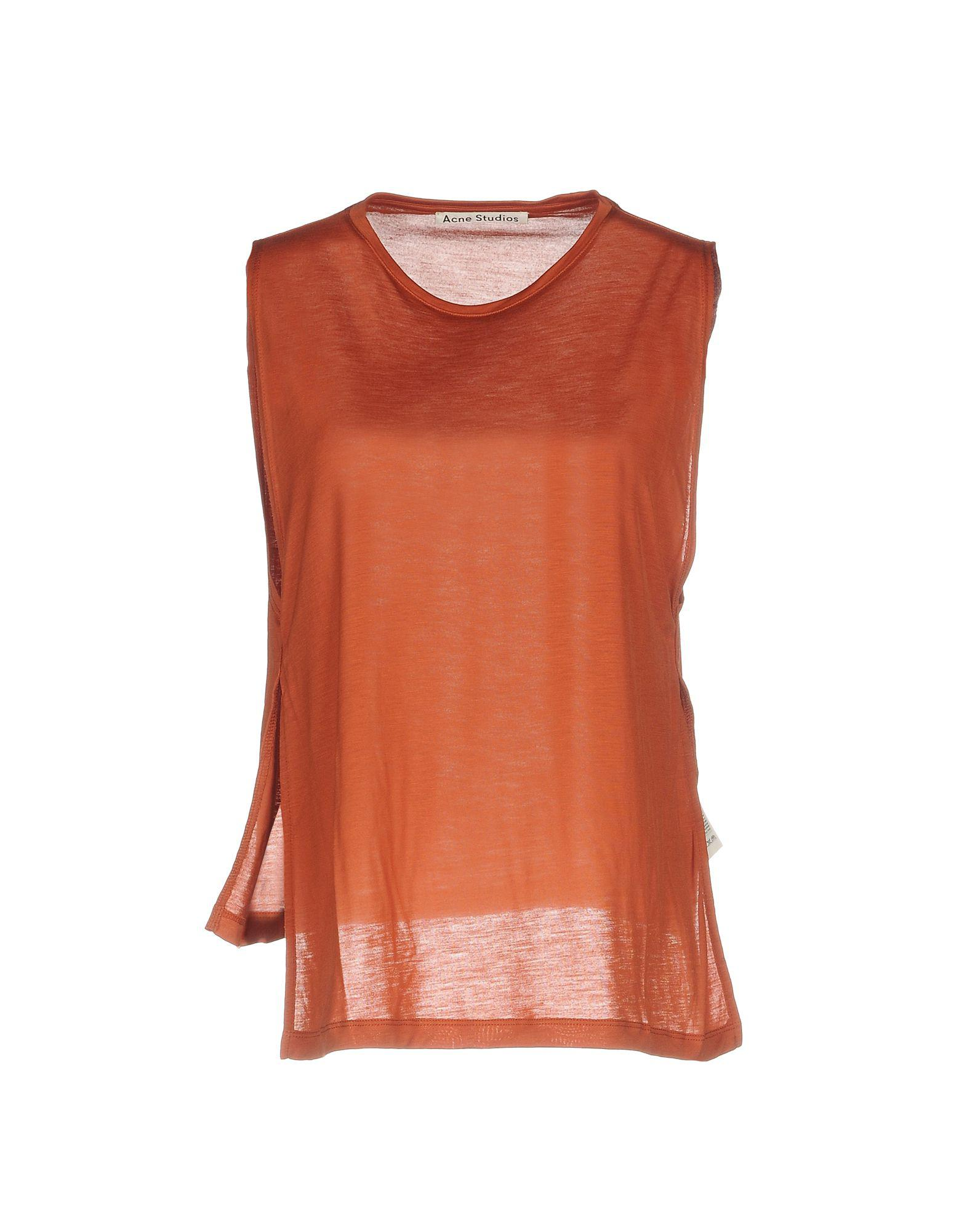 Lyst Acne T Shirt In Brown