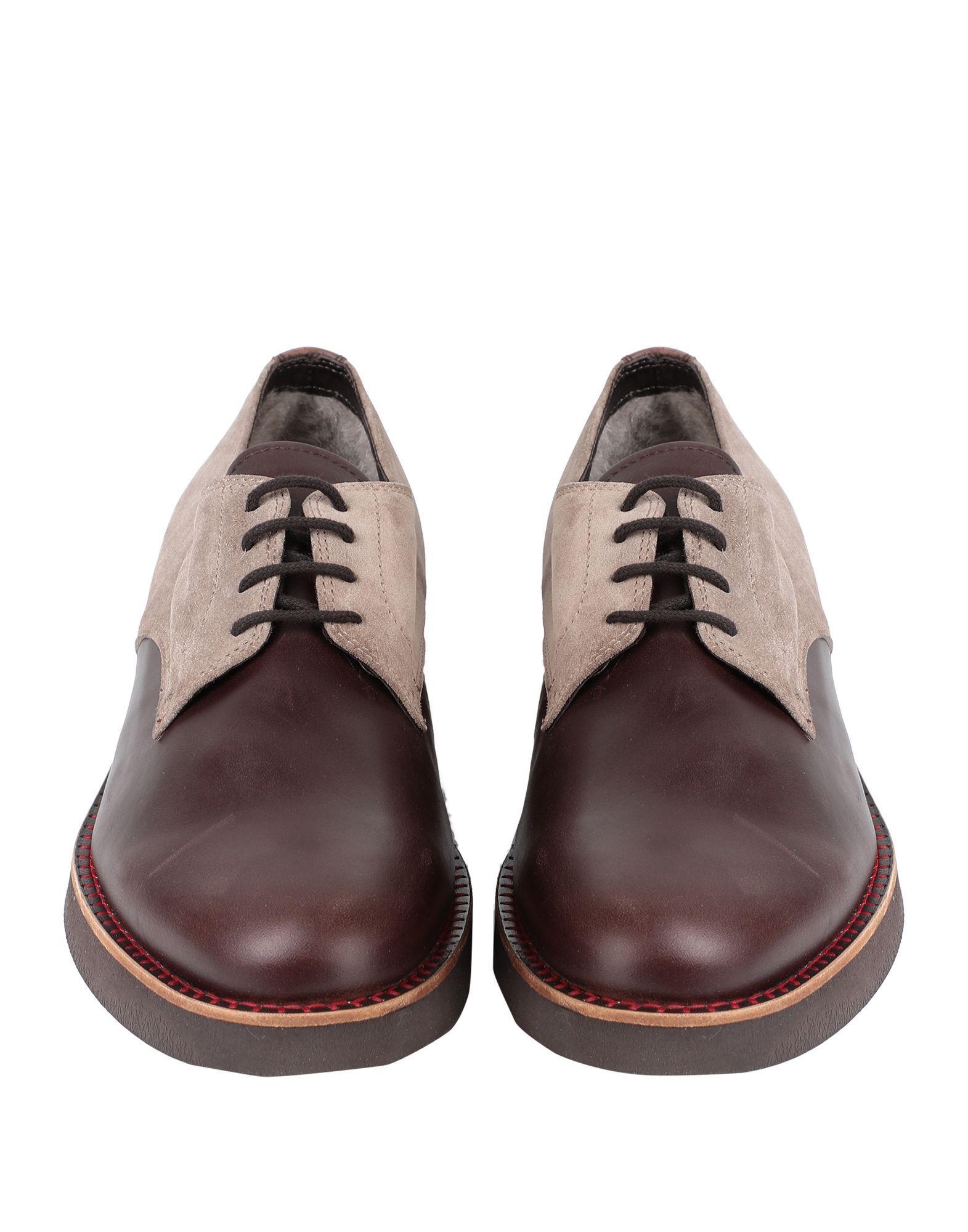Zapatos de cordones Pollini de Ante de color Marrón para hombre
