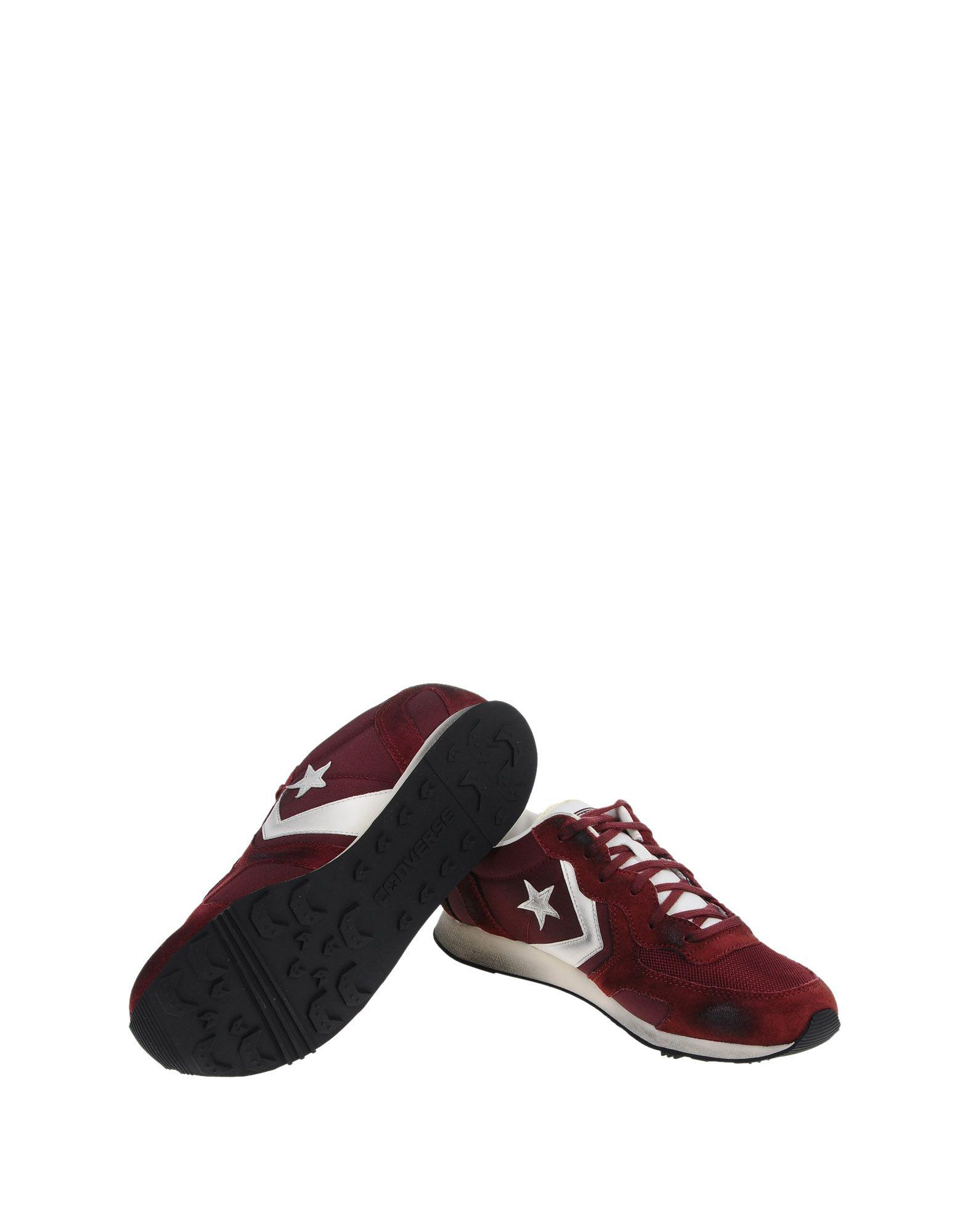 Converse Cons Leather Low Tops Amp Sneakers In Maroon