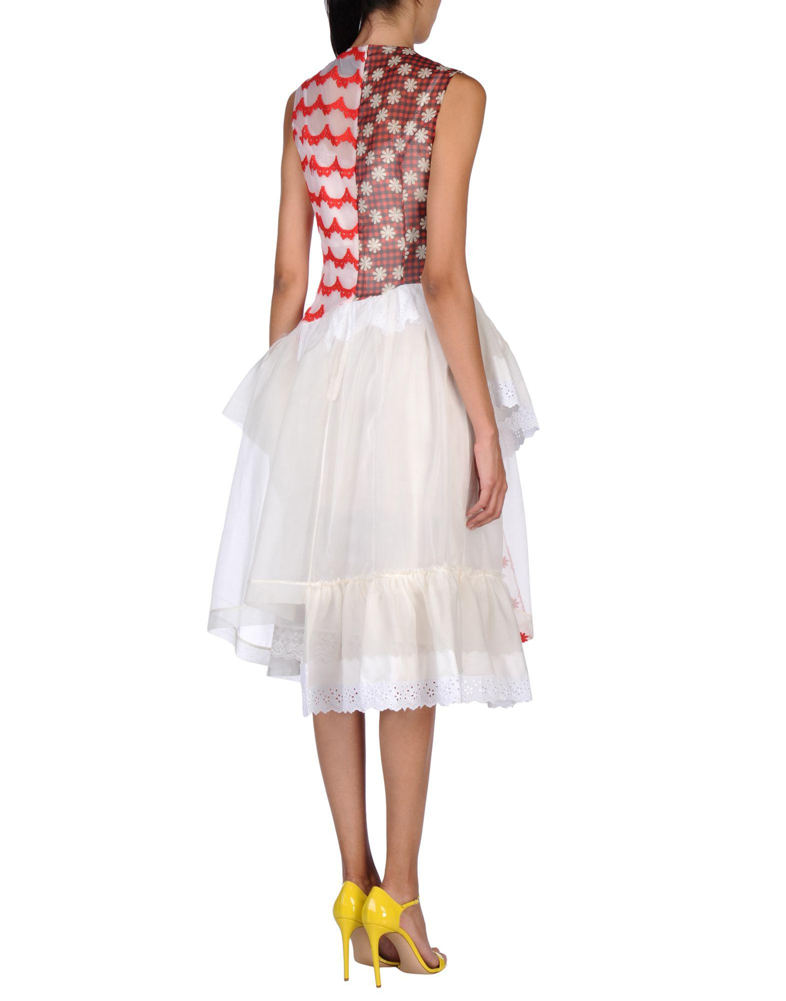 Simone Rocha Embroidered Tulle Dress In White Lyst