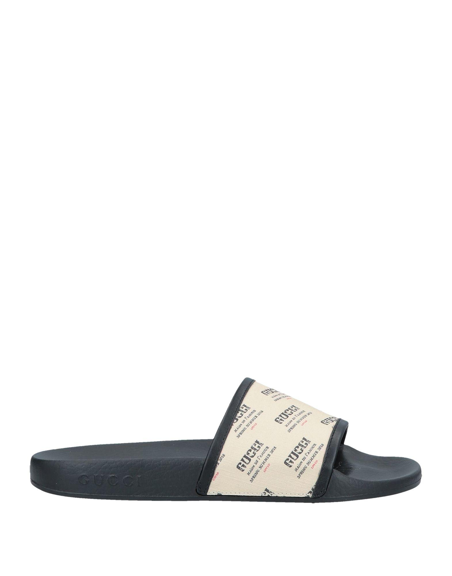 b47e4d0da Gucci - Natural Logo Print Rubber Slide Sandals - Lyst. View fullscreen