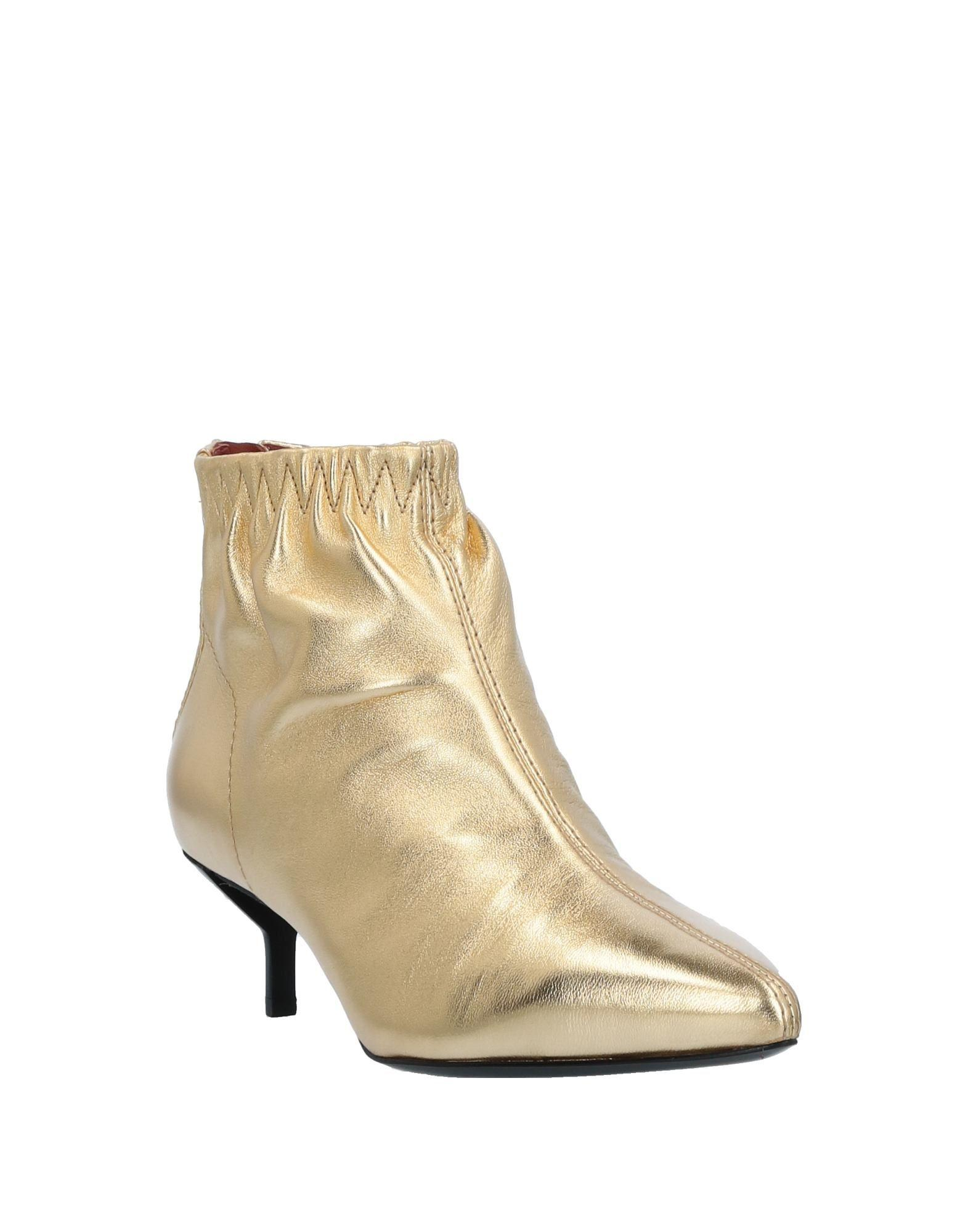 3.1 Phillip Lim Leather Ankle Boots in Gold (Metallic)