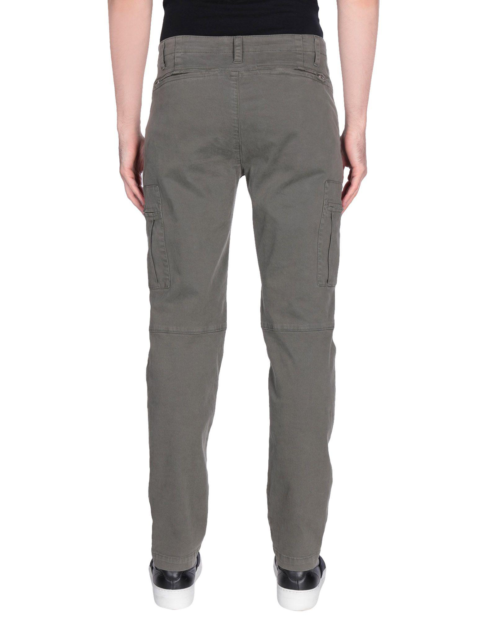 MSGM Cotton Casual Trouser in Military Green (Grey) for Men