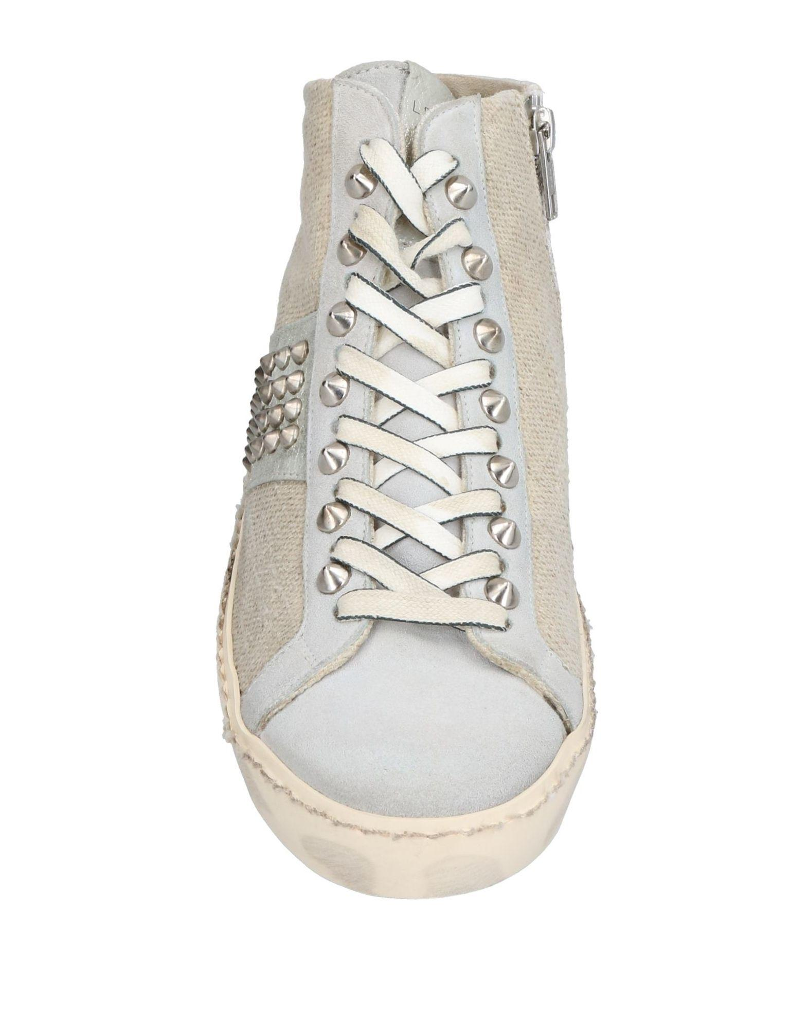 Leather Crown Suede High-tops & Sneakers in Beige (Natural)