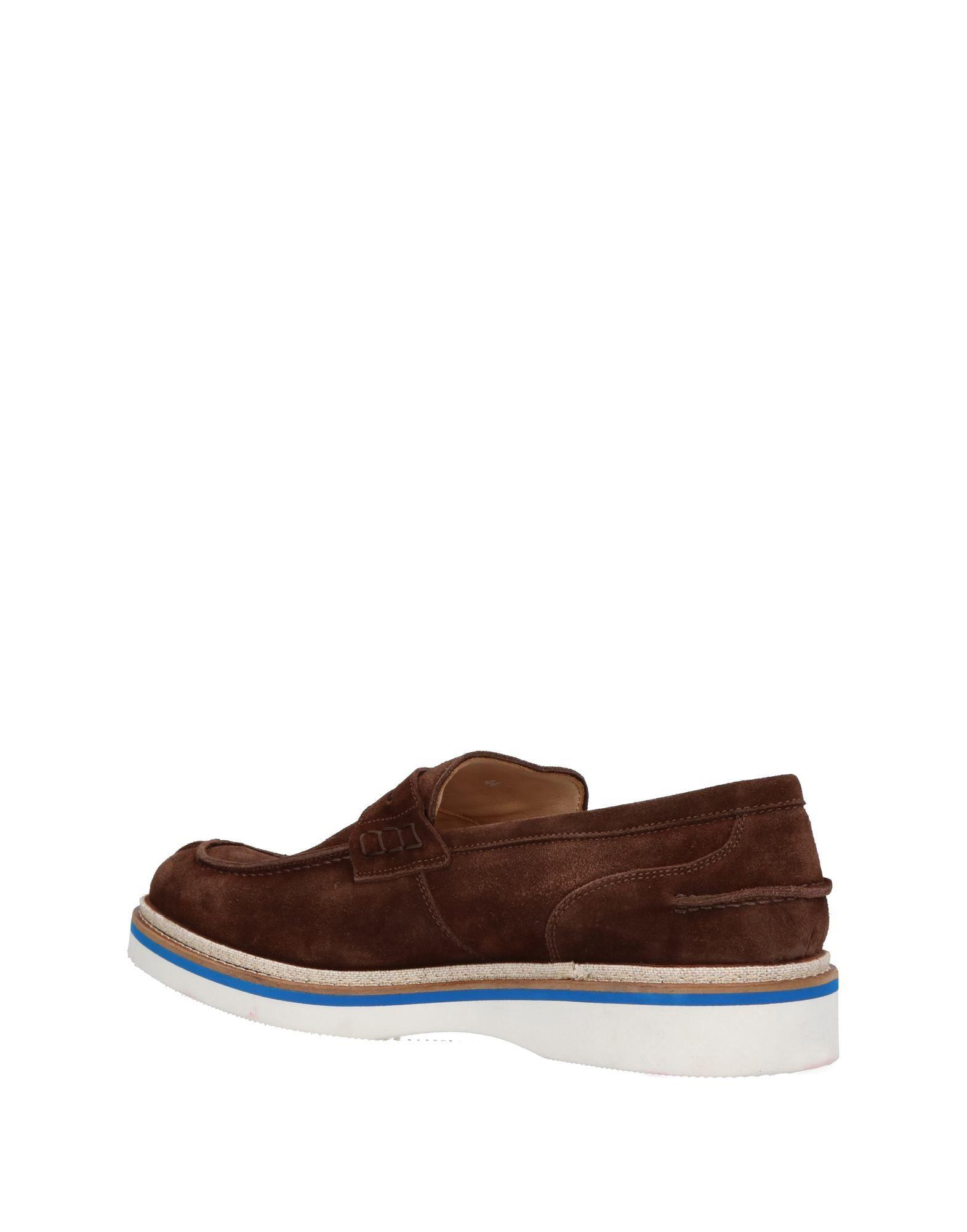 Gold Brothers Leather Loafer in Dark Brown (Brown) for Men
