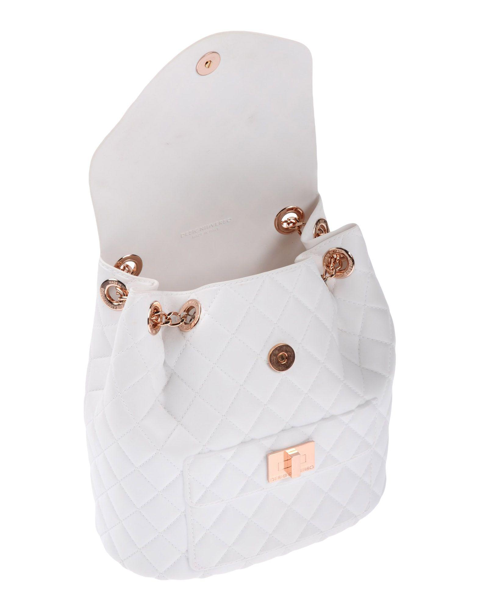 Designinverso Backpacks & Bum Bags in White