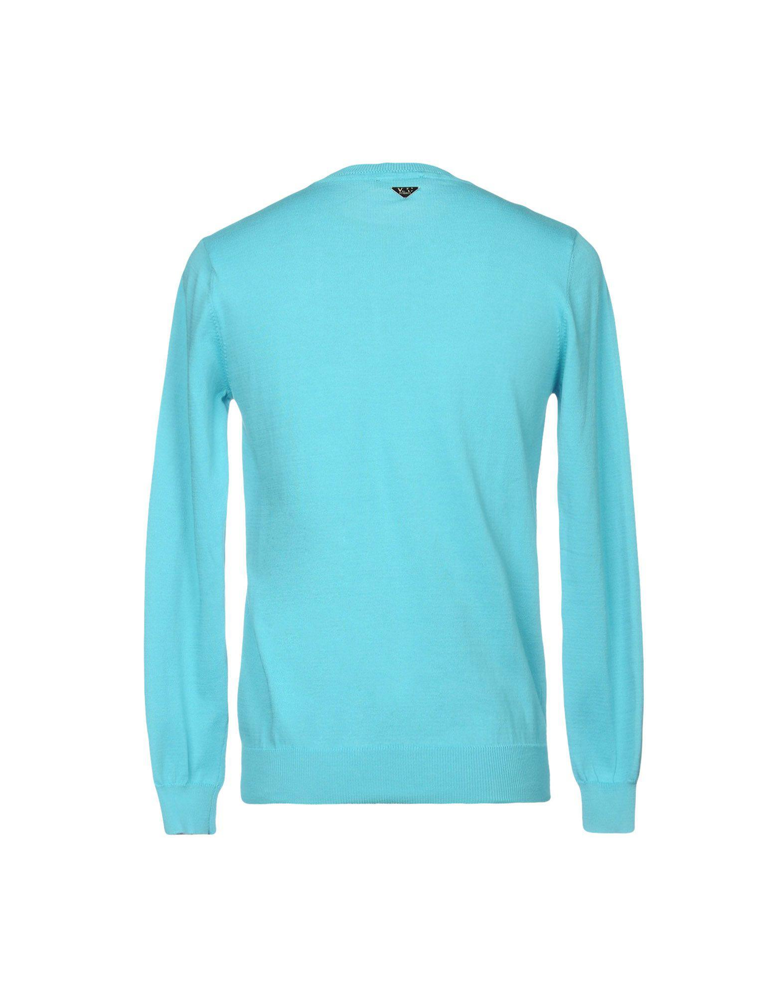 Versace Jeans Couture Cotton Jumper in Turquoise (Blue) for Men