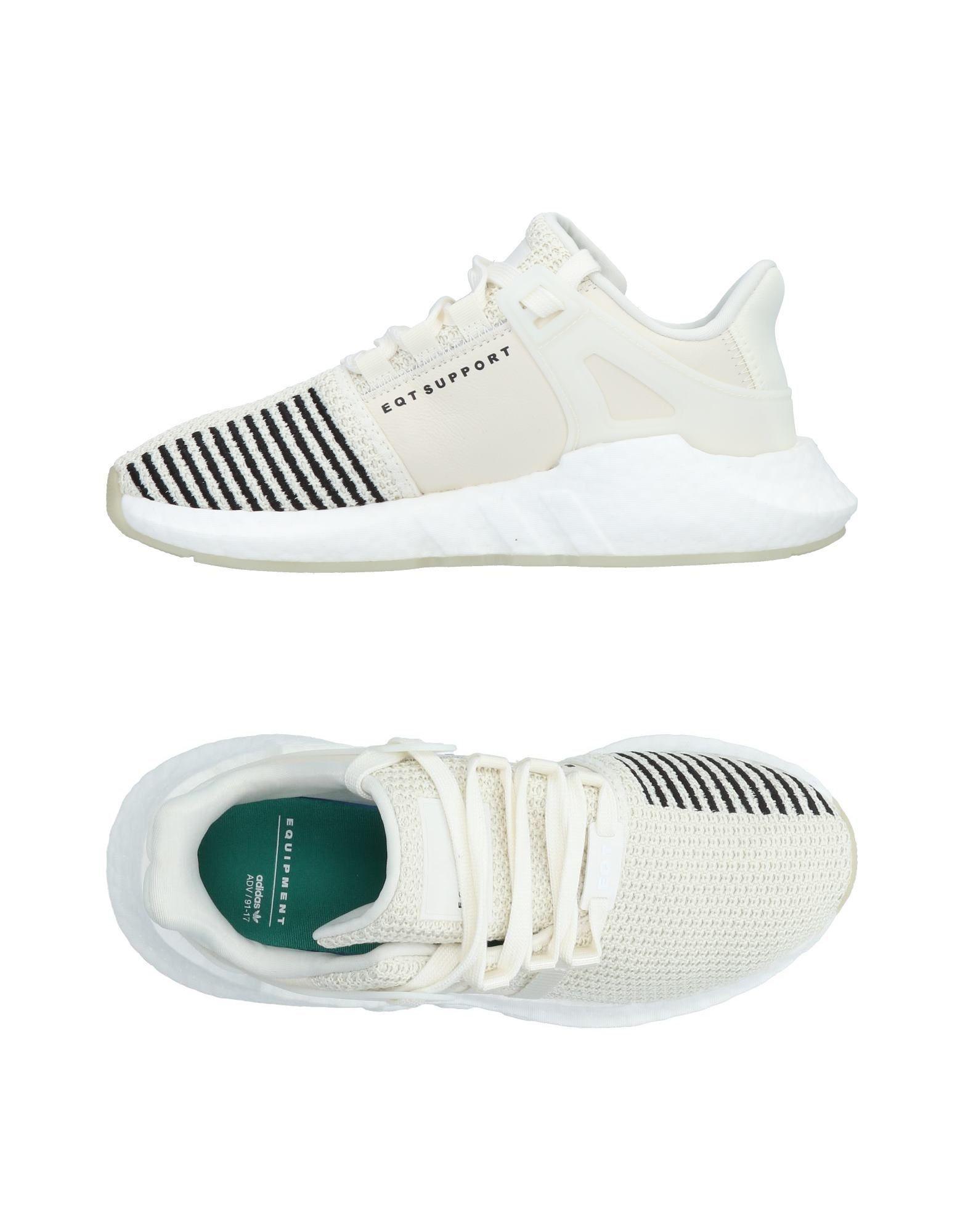 adidas Originals Leder Low Sneakers & Tennisschuhe in Weiß