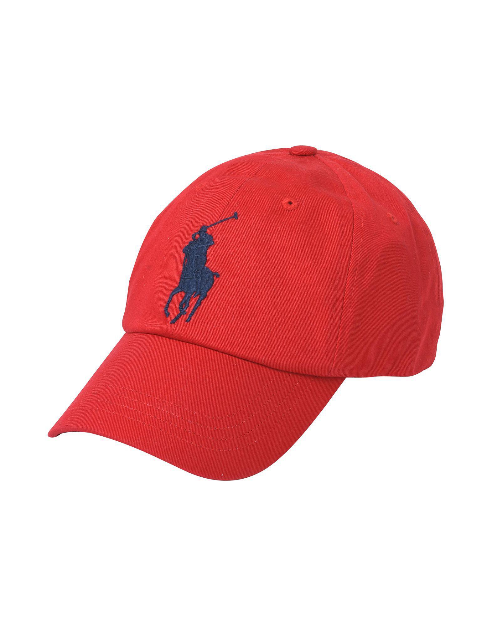 b7dbf53cc96 Lyst - Chapeau Polo Ralph Lauren pour homme en coloris Rouge