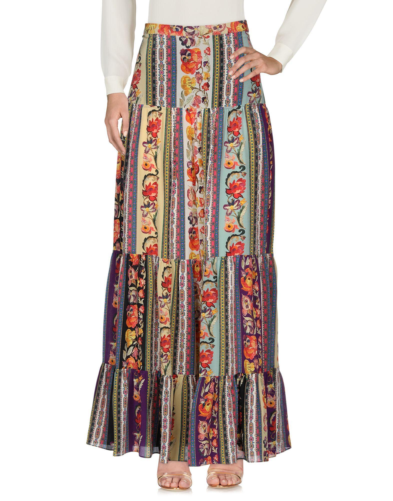 Jupe longue Soie Etro en coloris Neutre