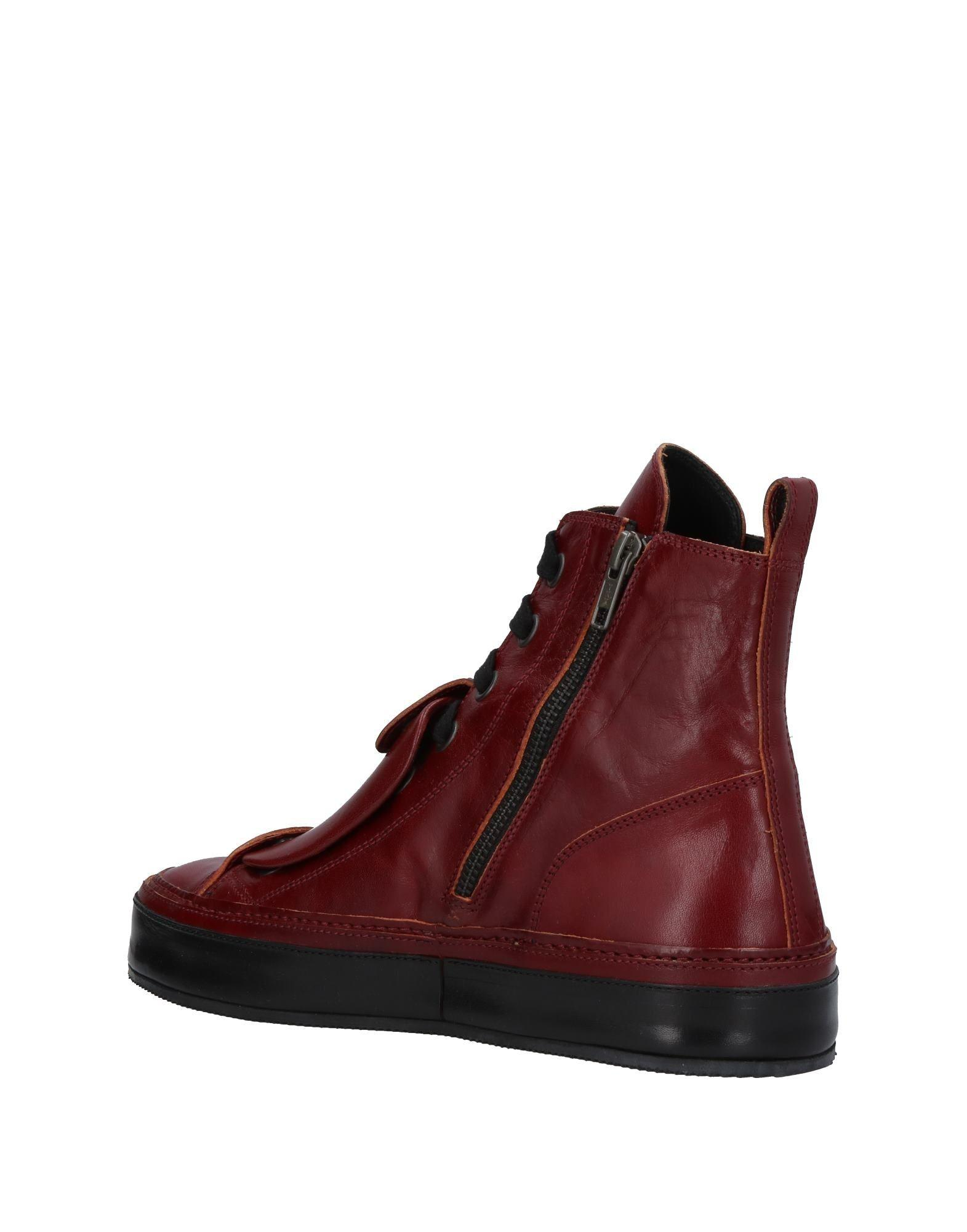 Ann Demeulemeester Leather High-tops & Sneakers in Maroon (Red)