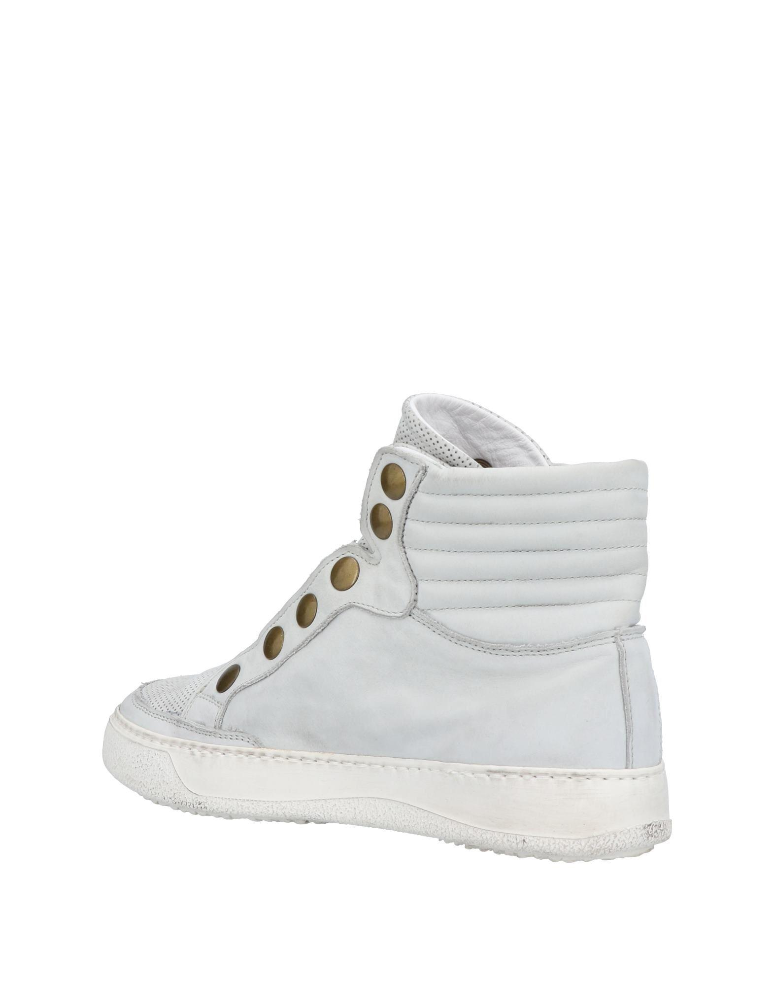 Bruno Bordese Leather High-tops & Sneakers in Light Grey (Grey)