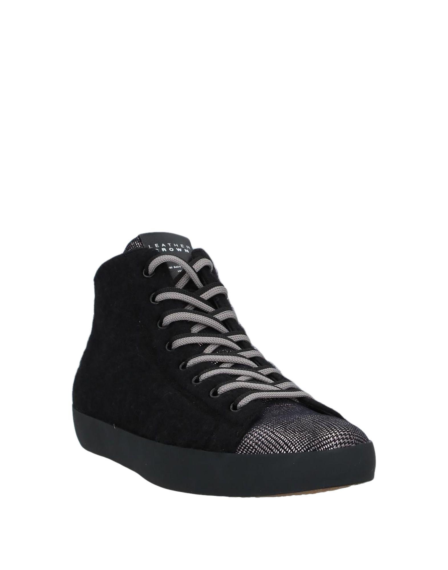 Sneakers abotinadas Leather Crown de hombre de color Negro