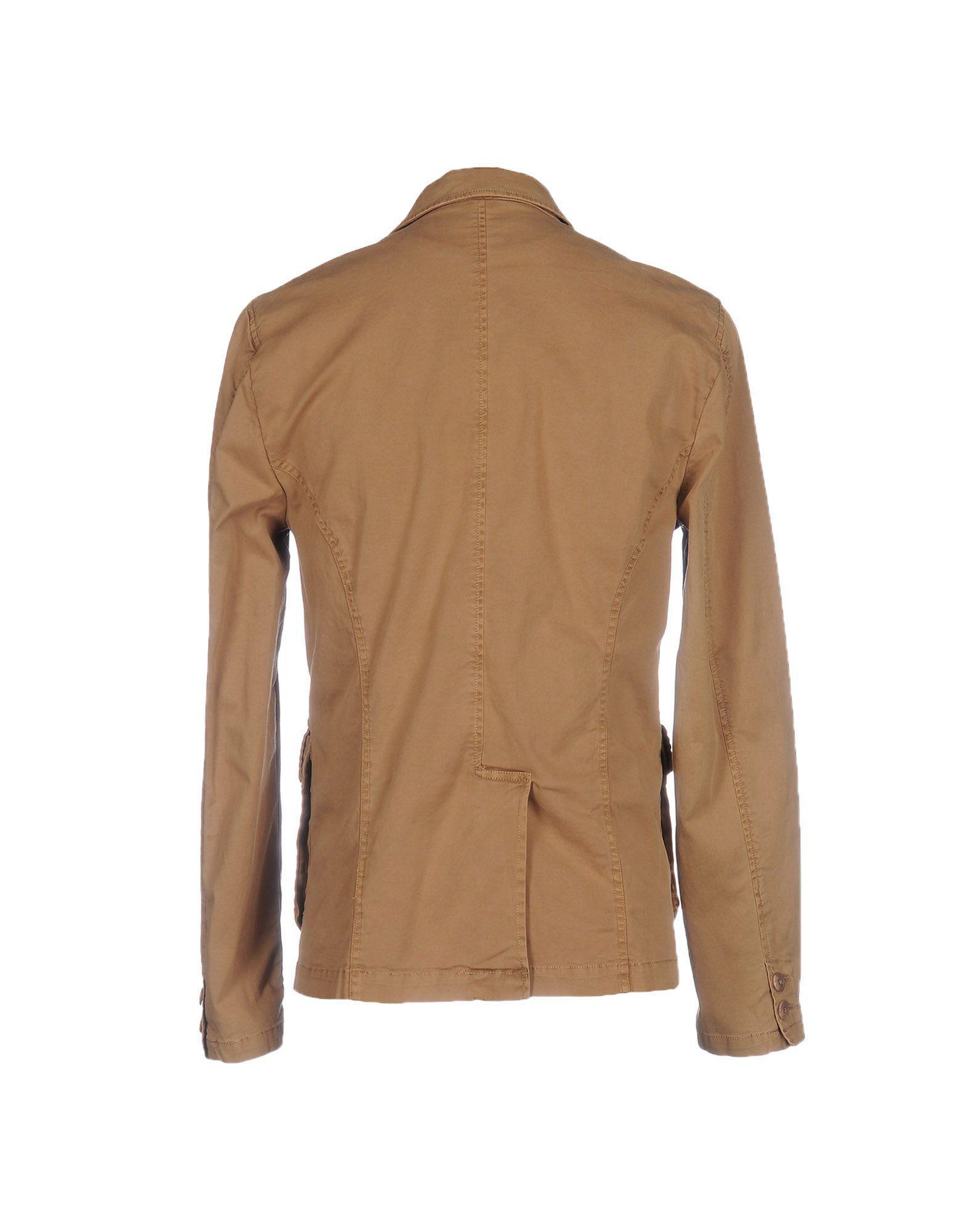 Sun 68 Cotton Jacket in Camel (Natural) for Men