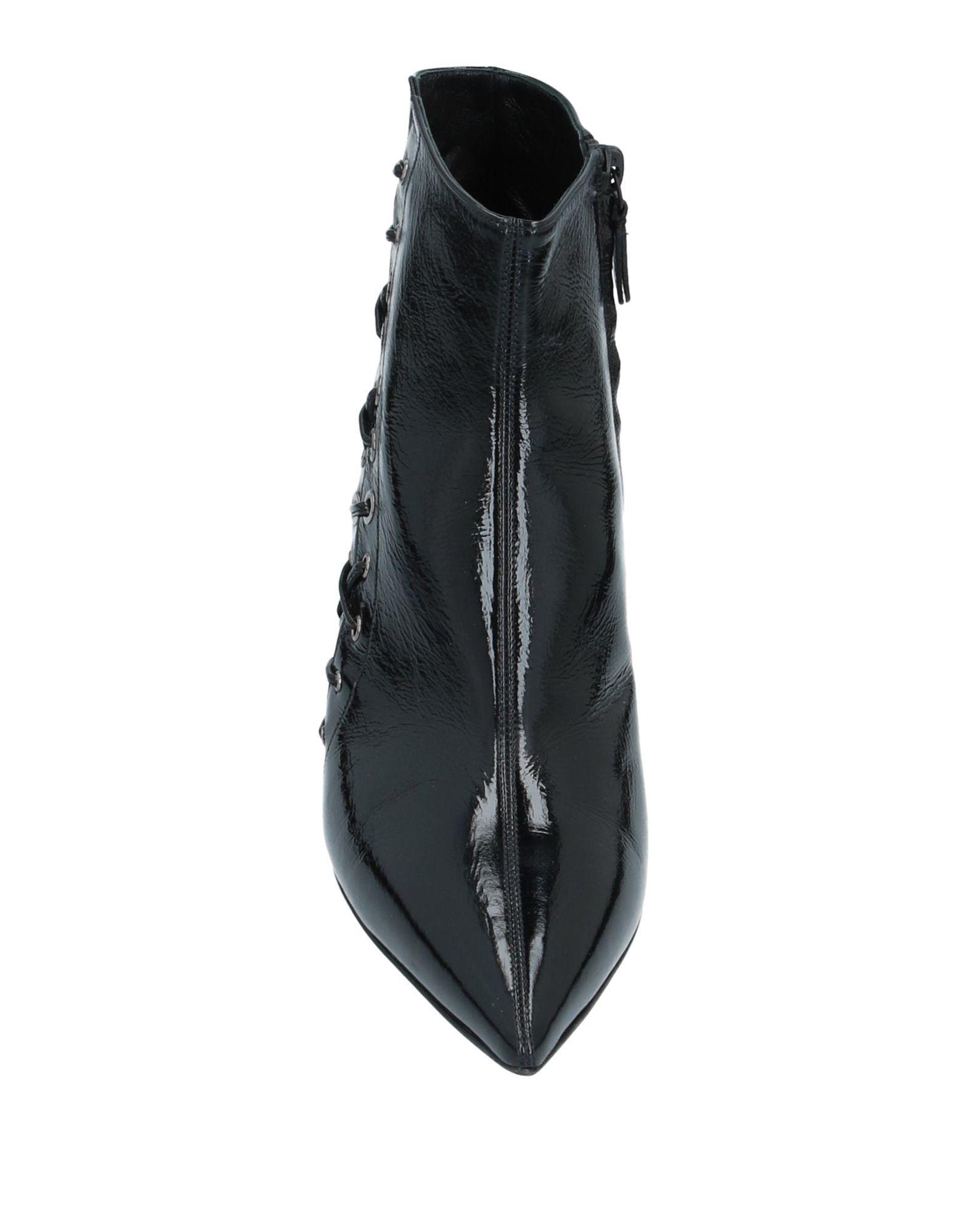 Botines de caña alta Casadei de Cuero de color Negro