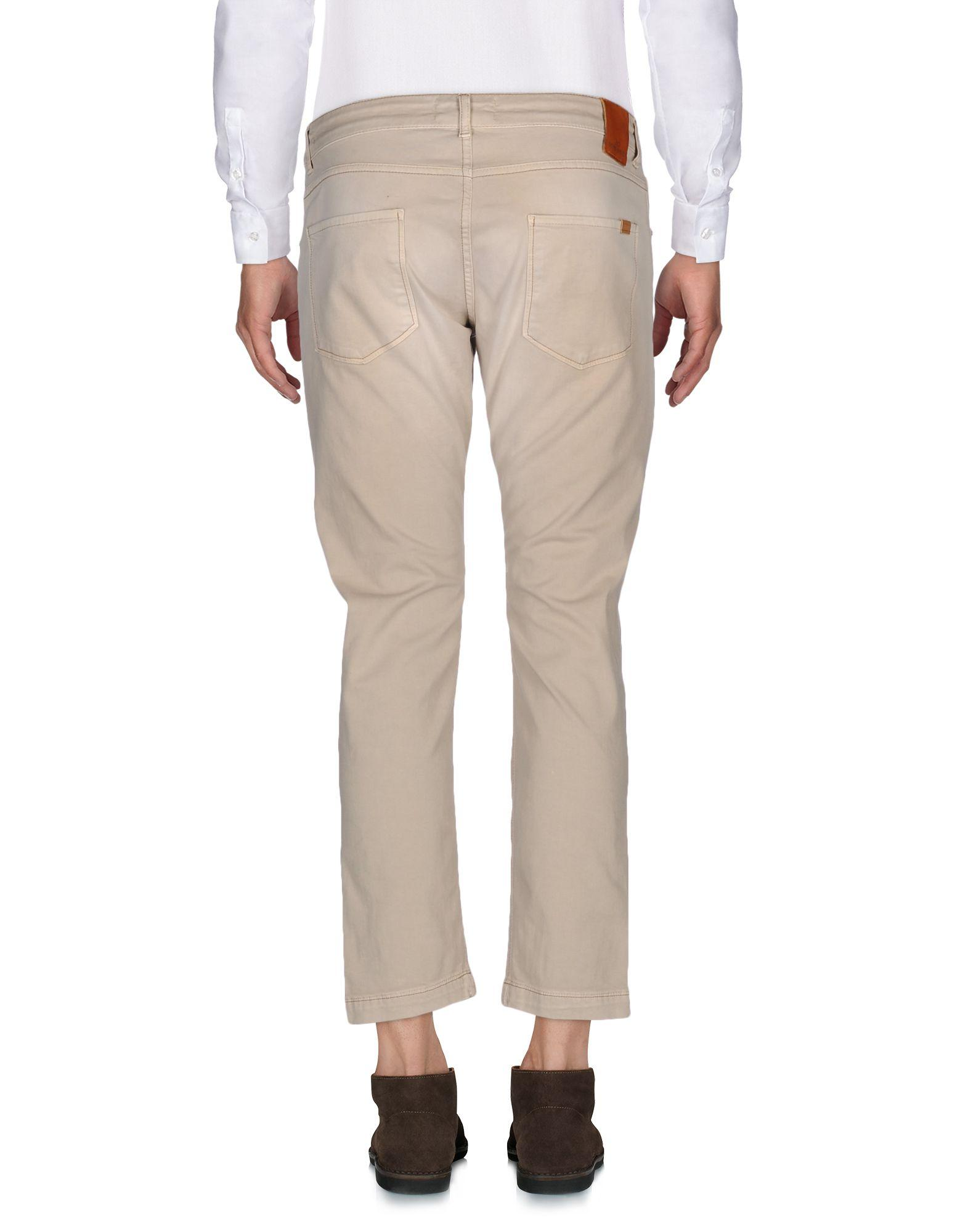 Entre Amis Leather Casual Pants in Beige (Natural) for Men