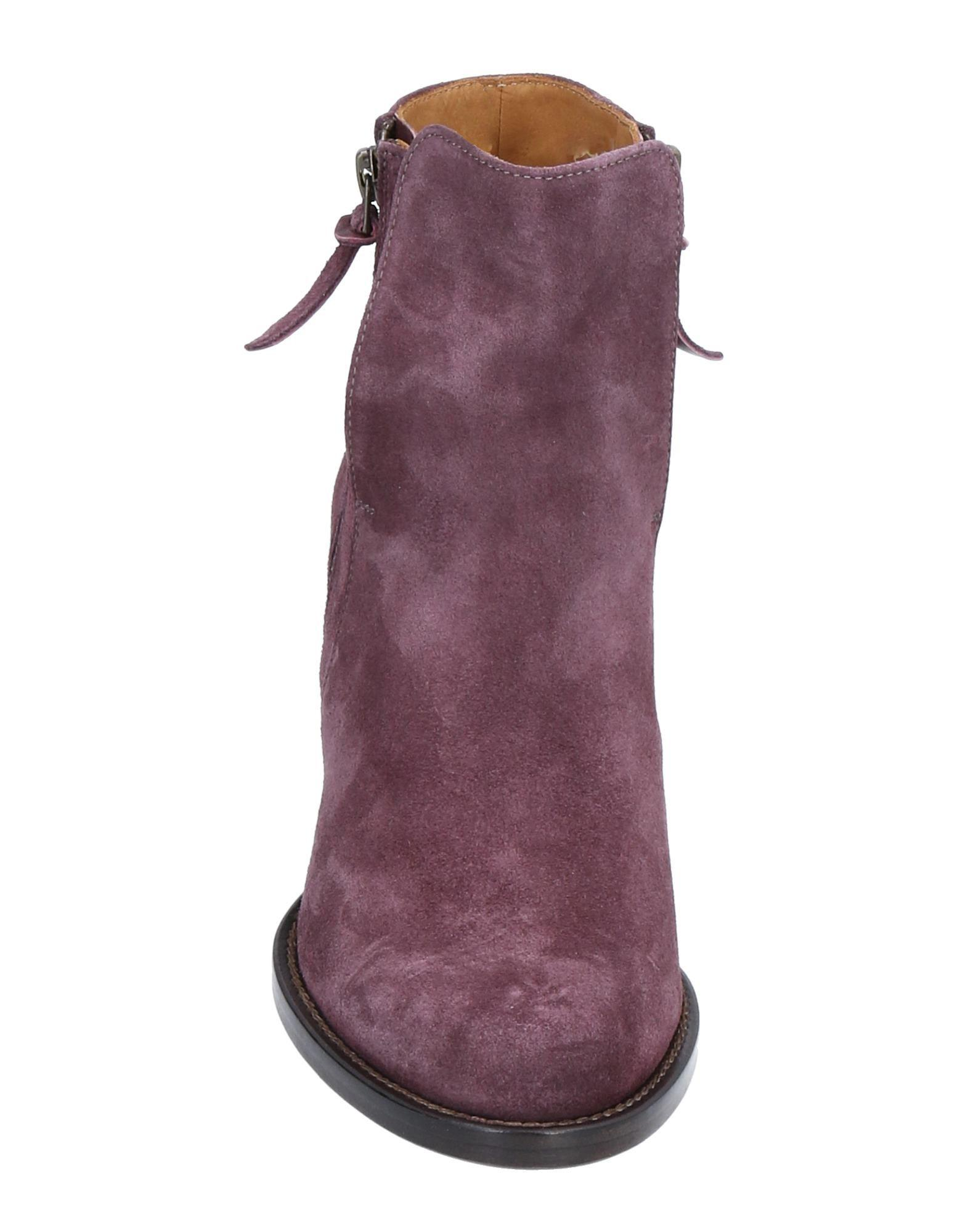 N.d.c. Made By Hand Leather Ankle Boots in Purple