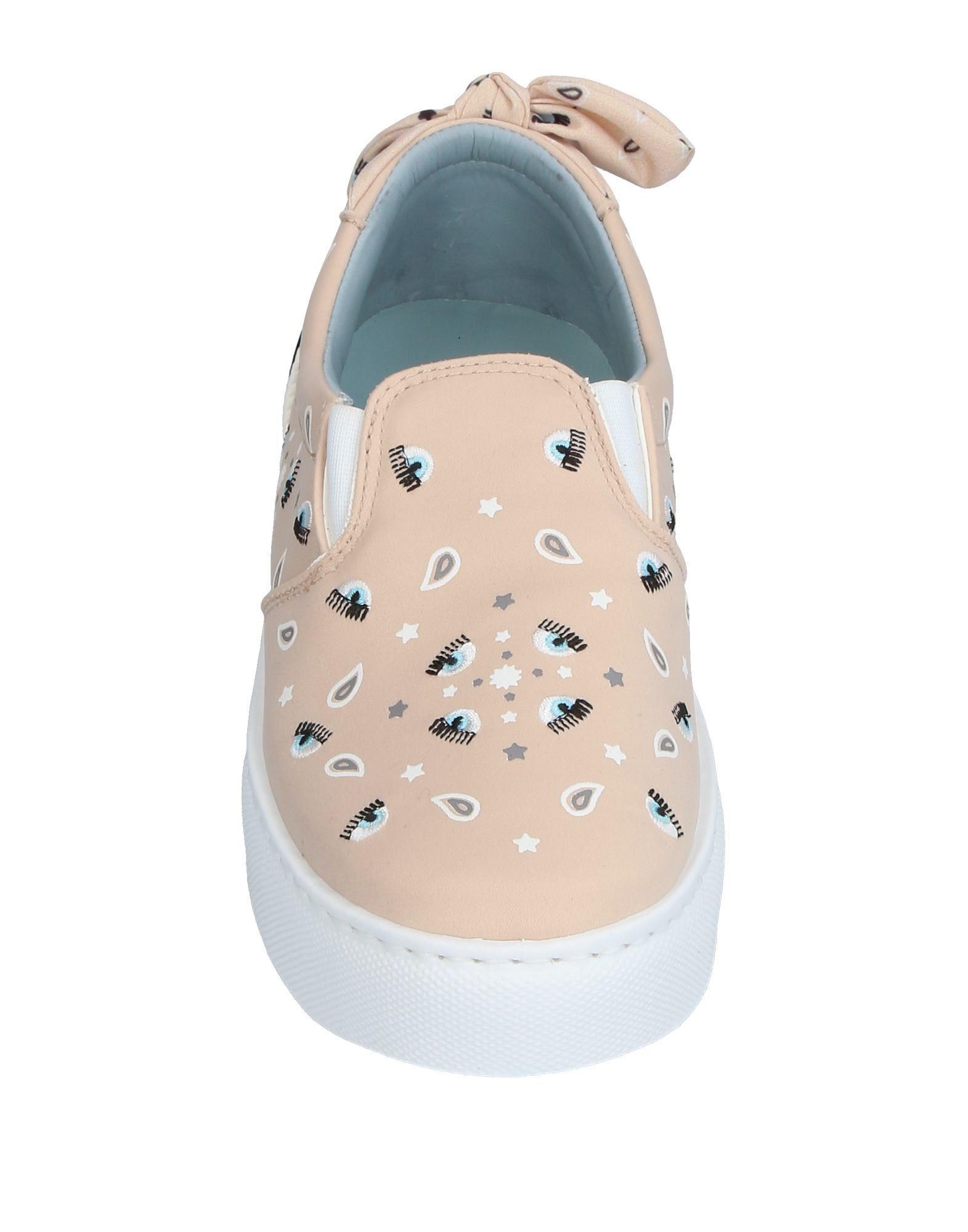 Chiara Ferragni Satin Low-tops & Sneakers in Beige (Natural)