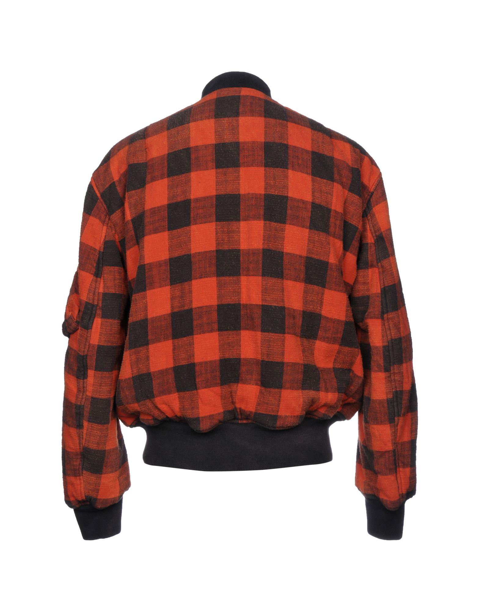 R13 Flannel Jacket in Rust (Red) for Men