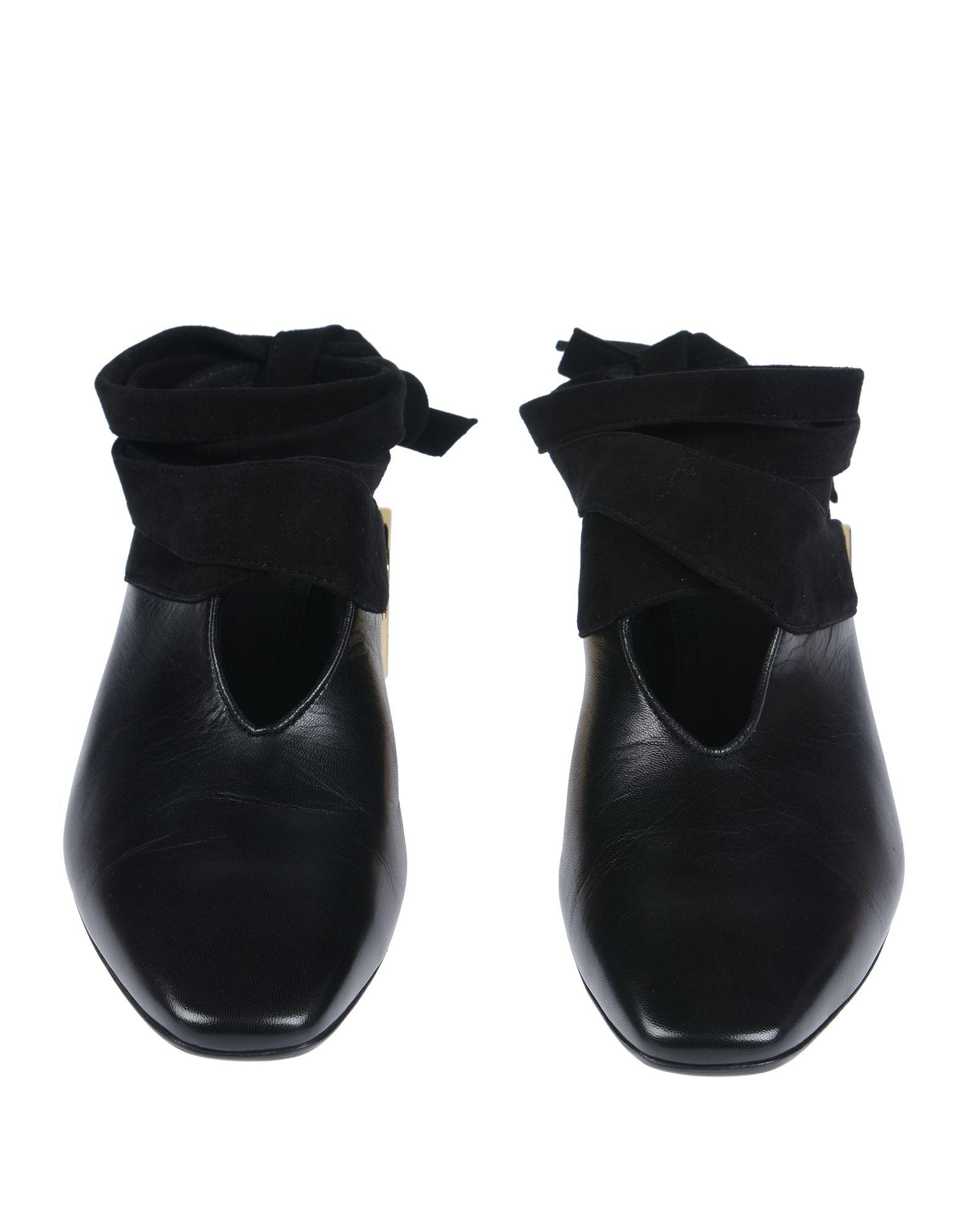JW Anderson Leather Chain Loafer Mules in Black - Lyst