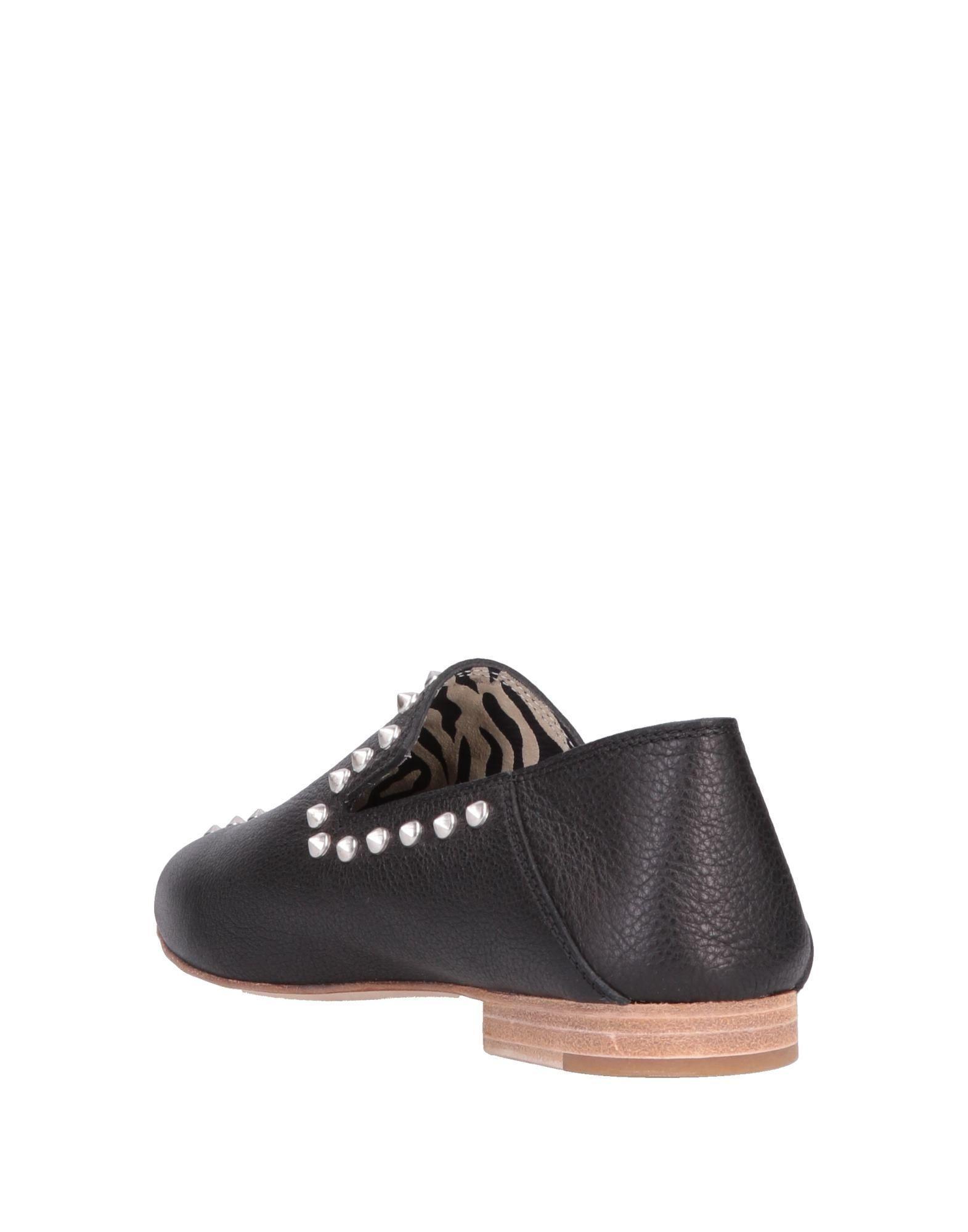 Mocasines Leather Crown de Cuero de color Negro
