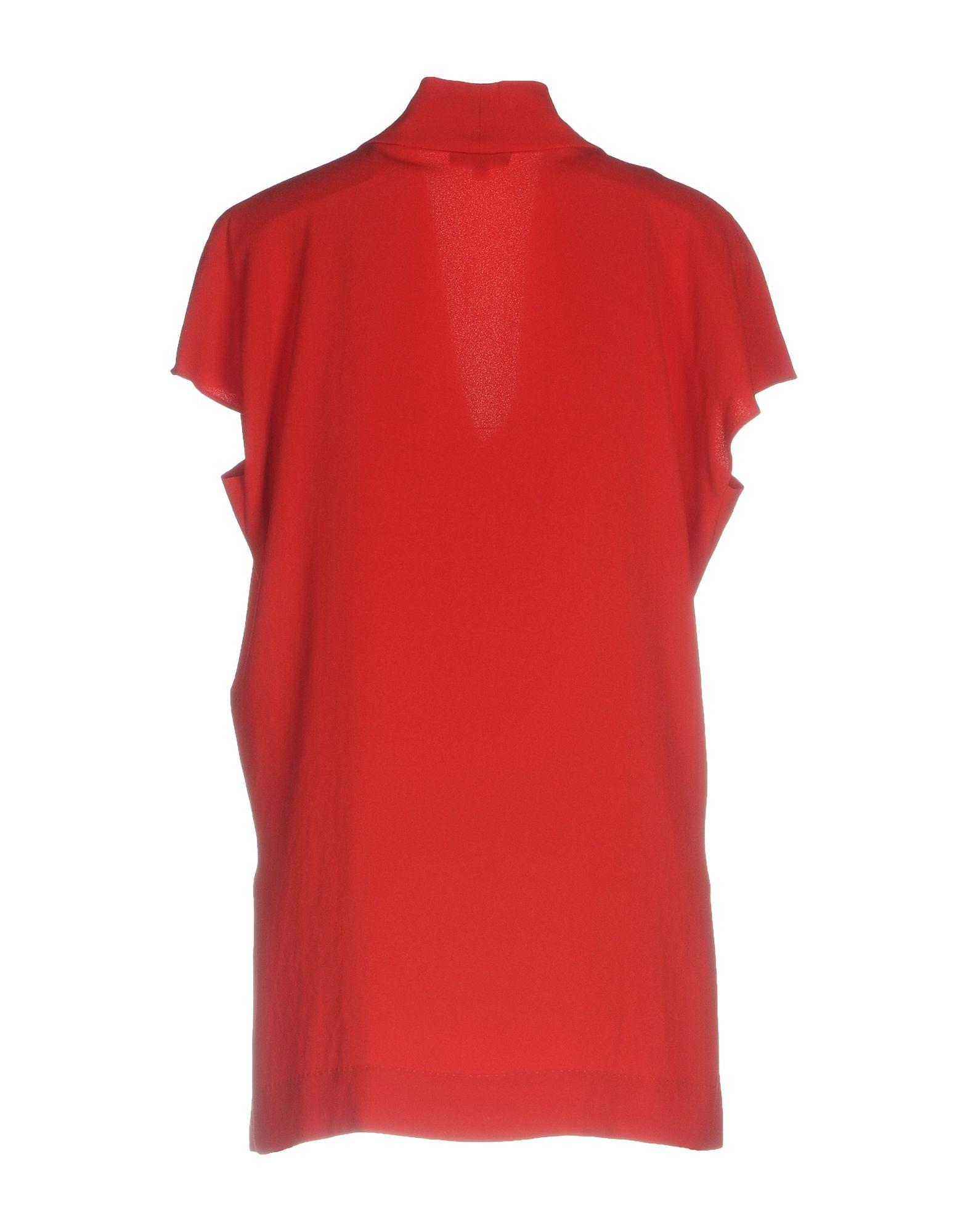 ESCADA Synthetik Bluse in Rot