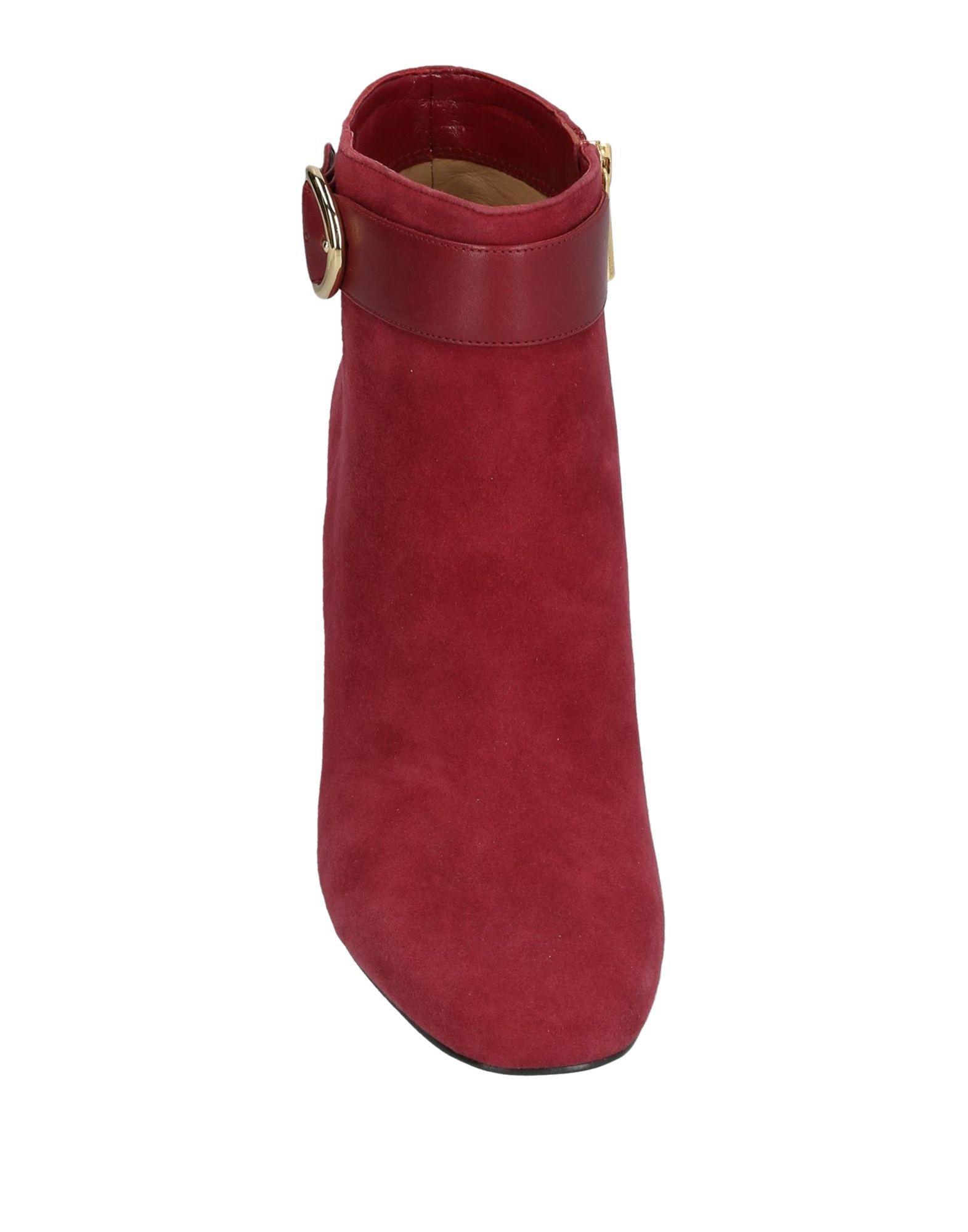 Botines de caña alta MICHAEL Michael Kors de Ante de color Rojo